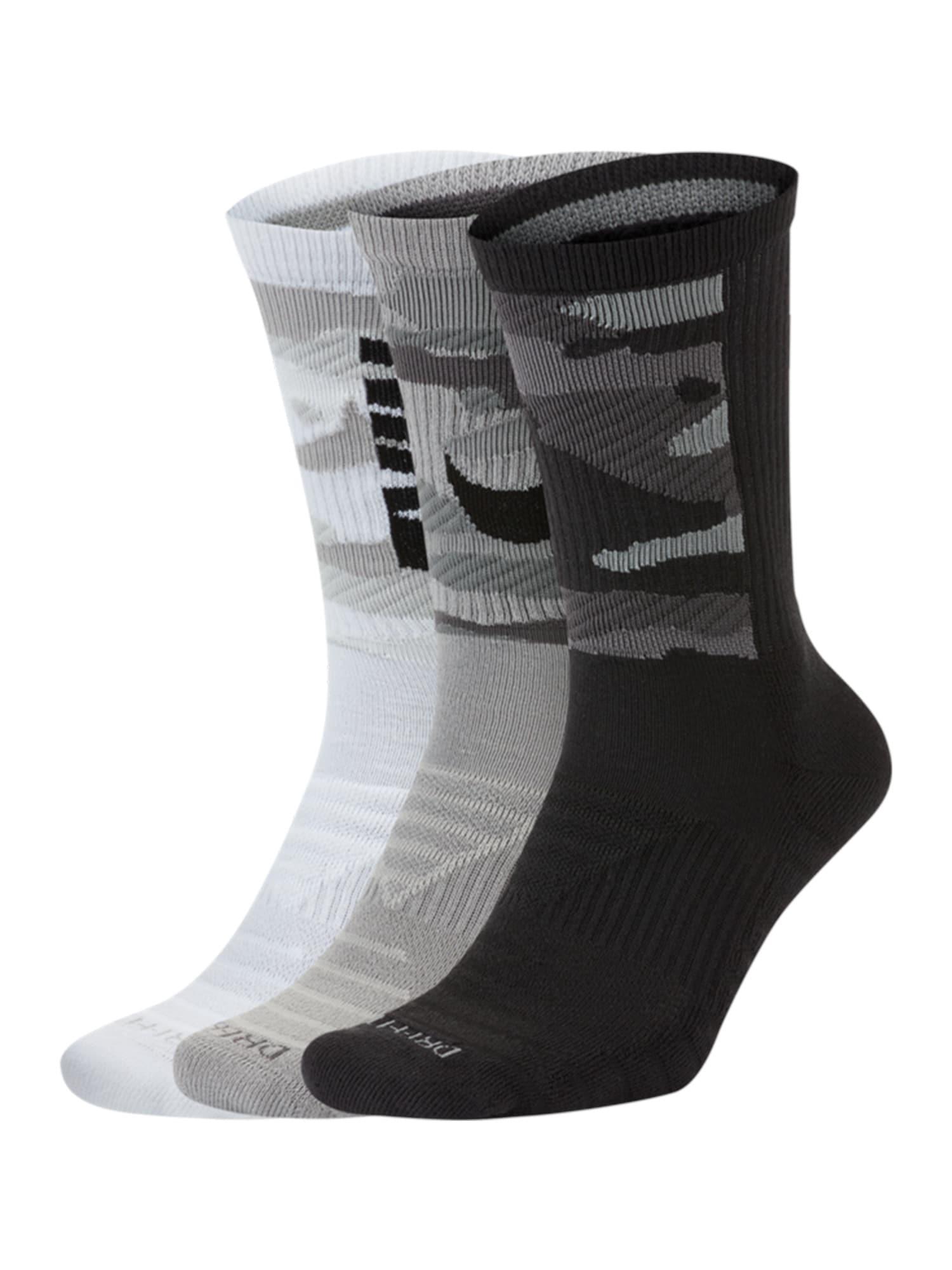 NIKE Sportovní ponožky  mix barev / bílá / šedá / černá