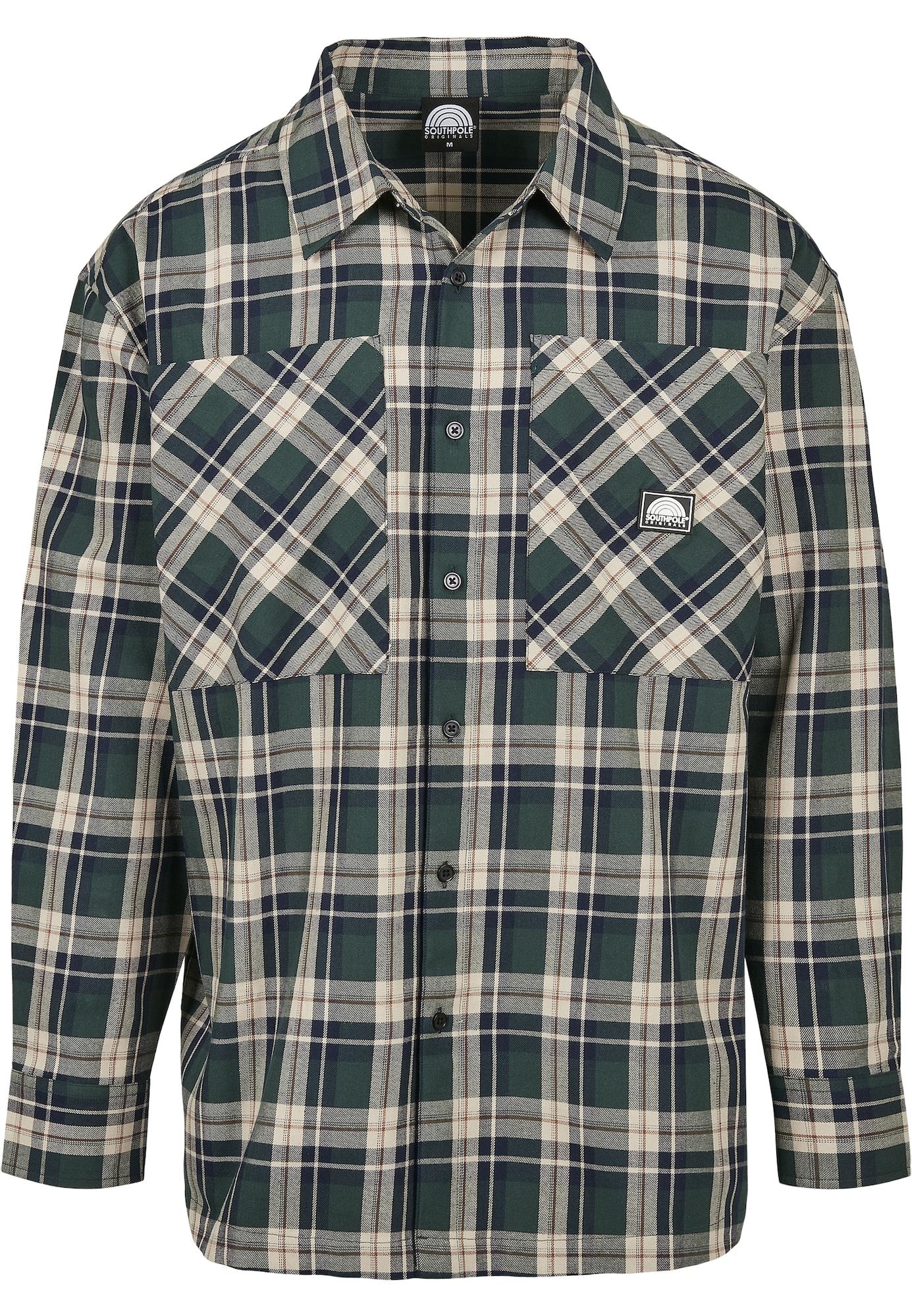 SOUTHPOLE Marškiniai žalia / smėlio
