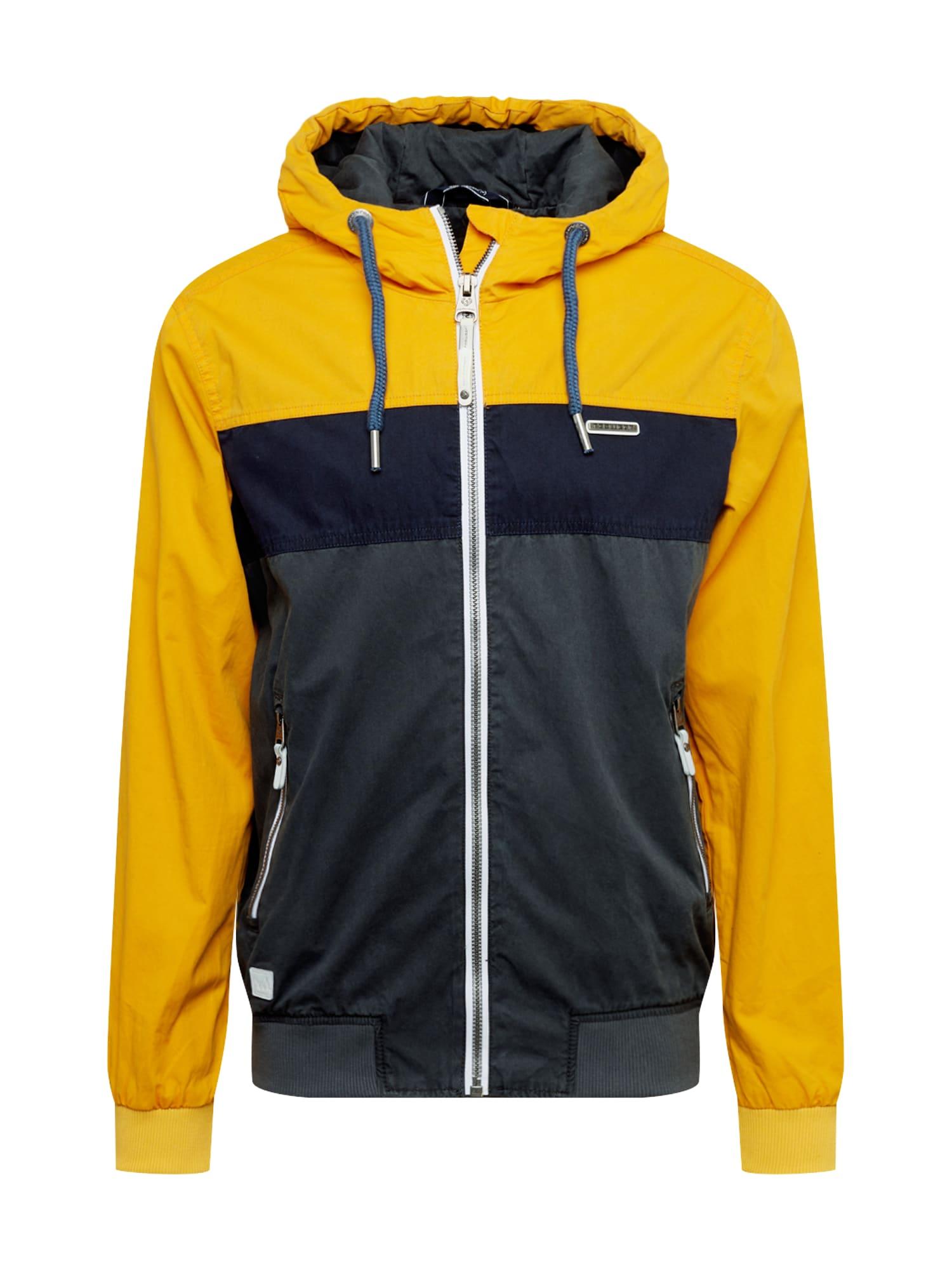 Ragwear Přechodná bunda 'ECTOR'  žlutá / grafitová / antracitová