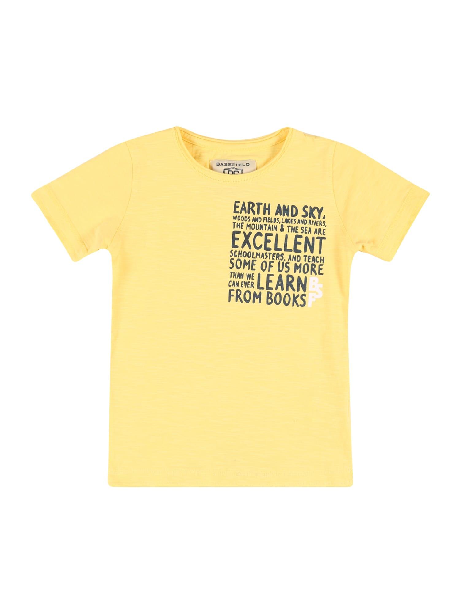 BASEFIELD Marškinėliai geltona / juoda / balta