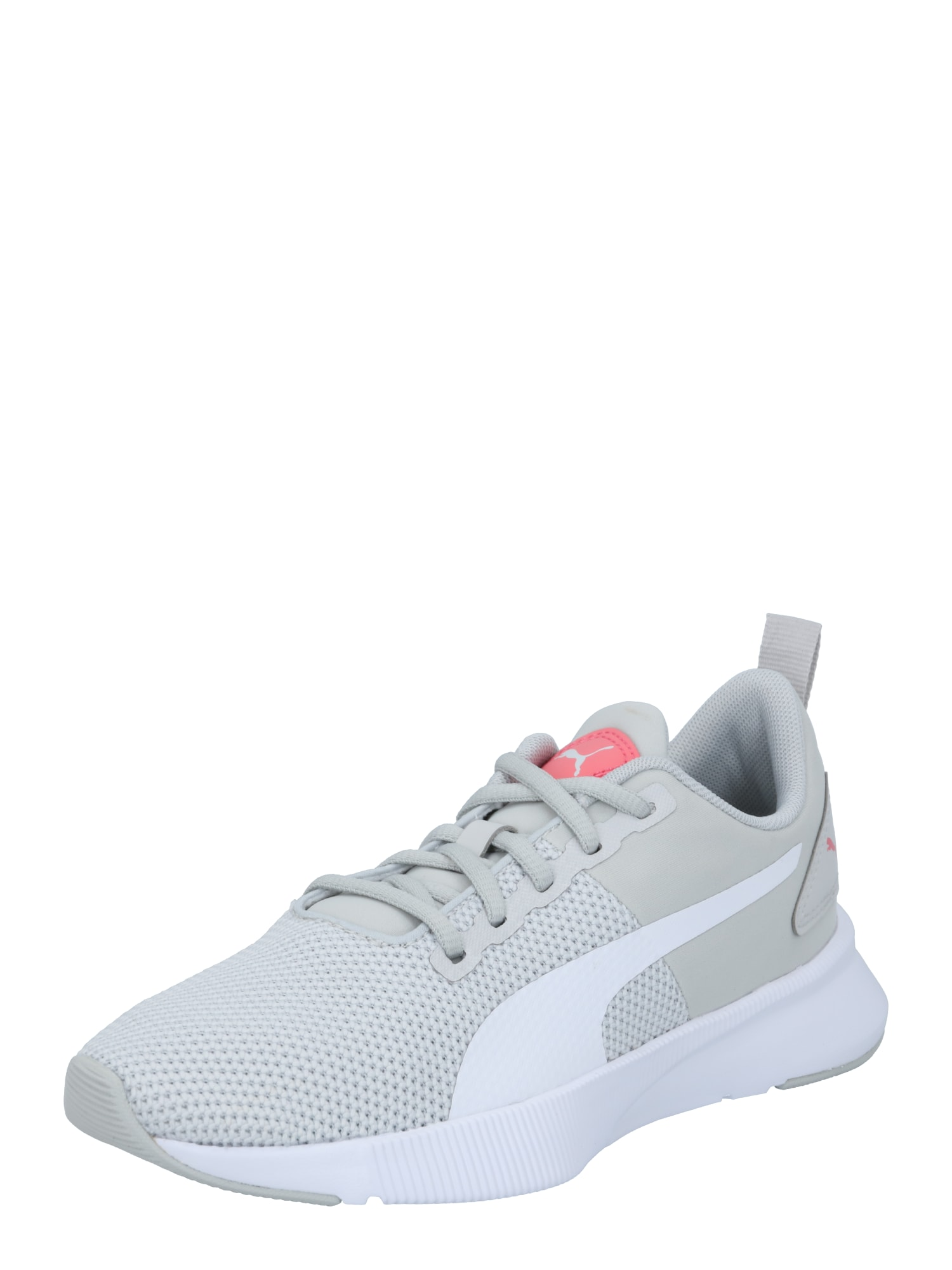 PUMA Sportiniai batai 'Flyer Runner Jr' balta / dūmų pilka / melionų spalva