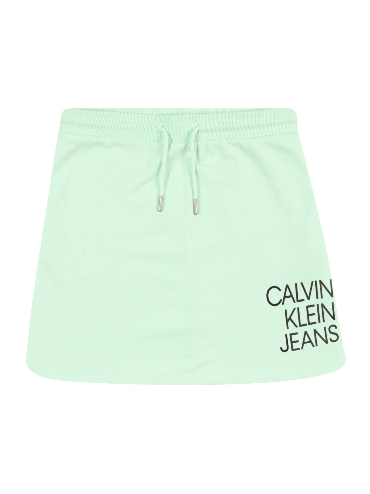 Calvin Klein Jeans Sijonas žalia / juoda