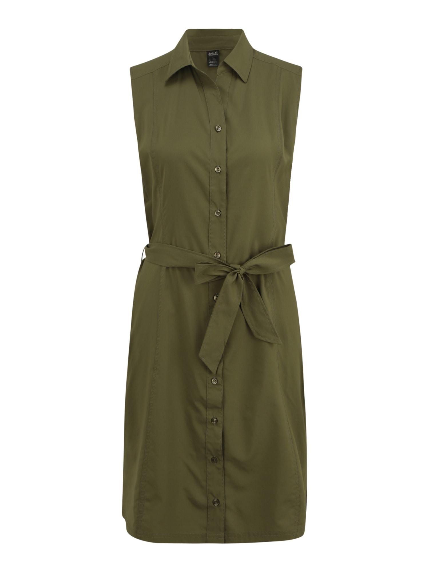 JACK WOLFSKIN Sportinė suknelė 'Sonora' tamsiai žalia