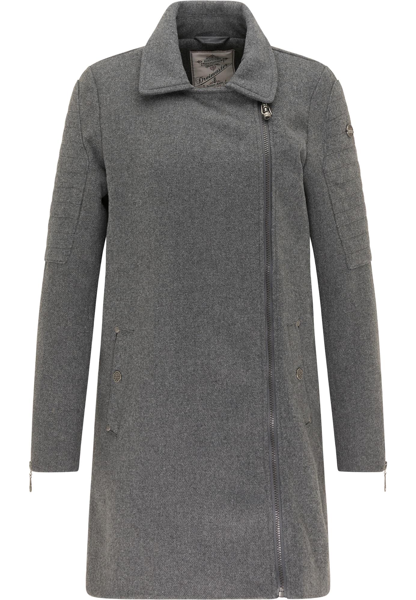DreiMaster Vintage Demisezoninis paltas tamsiai pilka