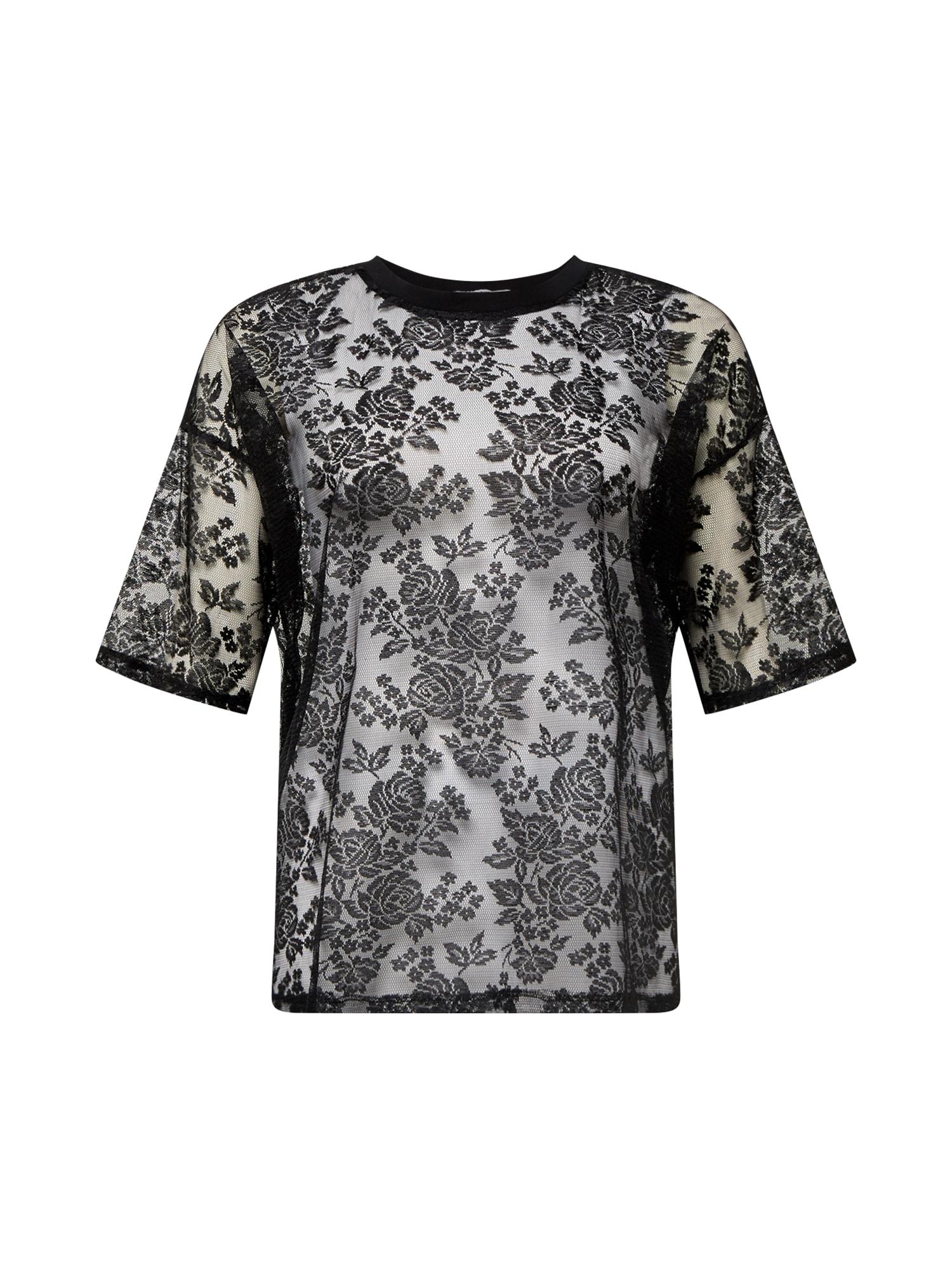 GLAMOROUS CURVE Marškinėliai juoda