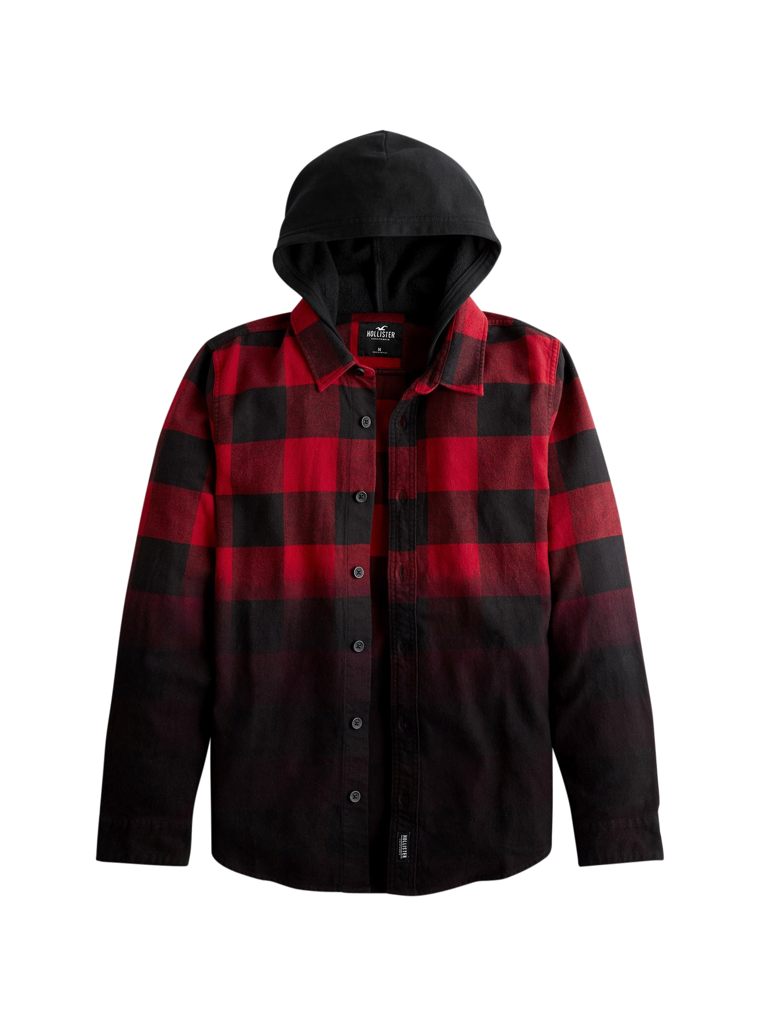 HOLLISTER Košile  červená / černá
