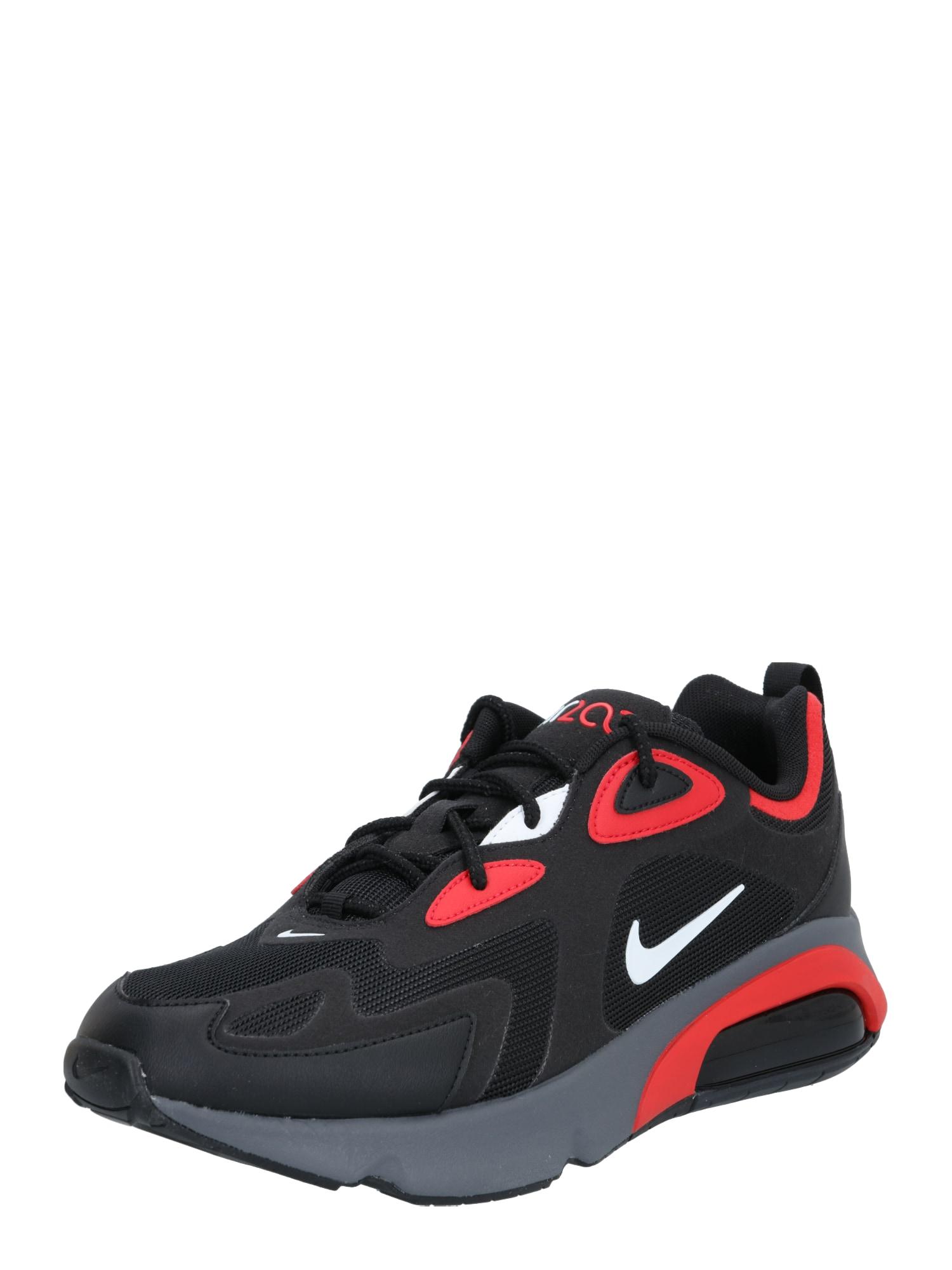 Nike Sportswear Nízke tenisky 'Air Max 200'  čierna / červená
