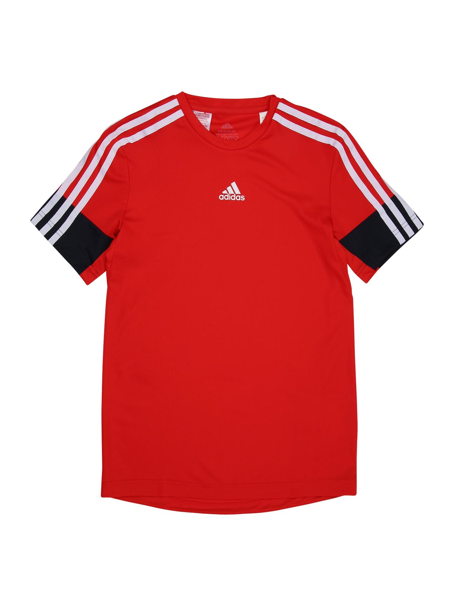 ADIDAS PERFORMANCE Funkční tričko  červená / tmavě modrá / bílá