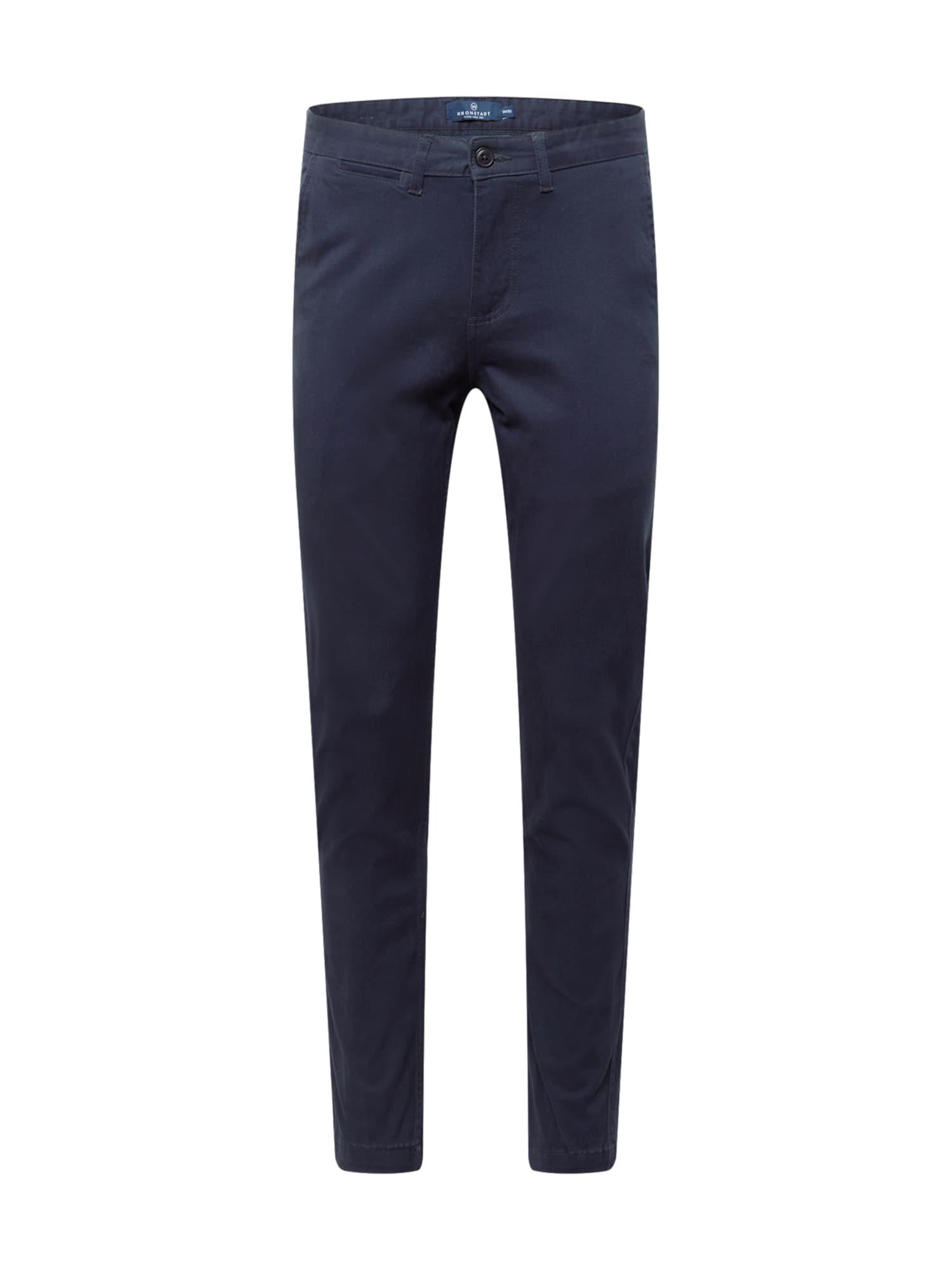 Kronstadt Chino kalhoty 'Daniel'  noční modrá
