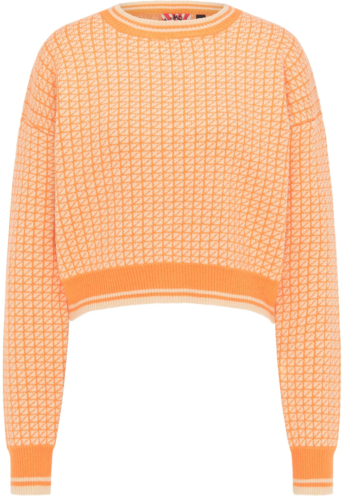 myMo ROCKS Megztinis mandarinų spalva / kremo