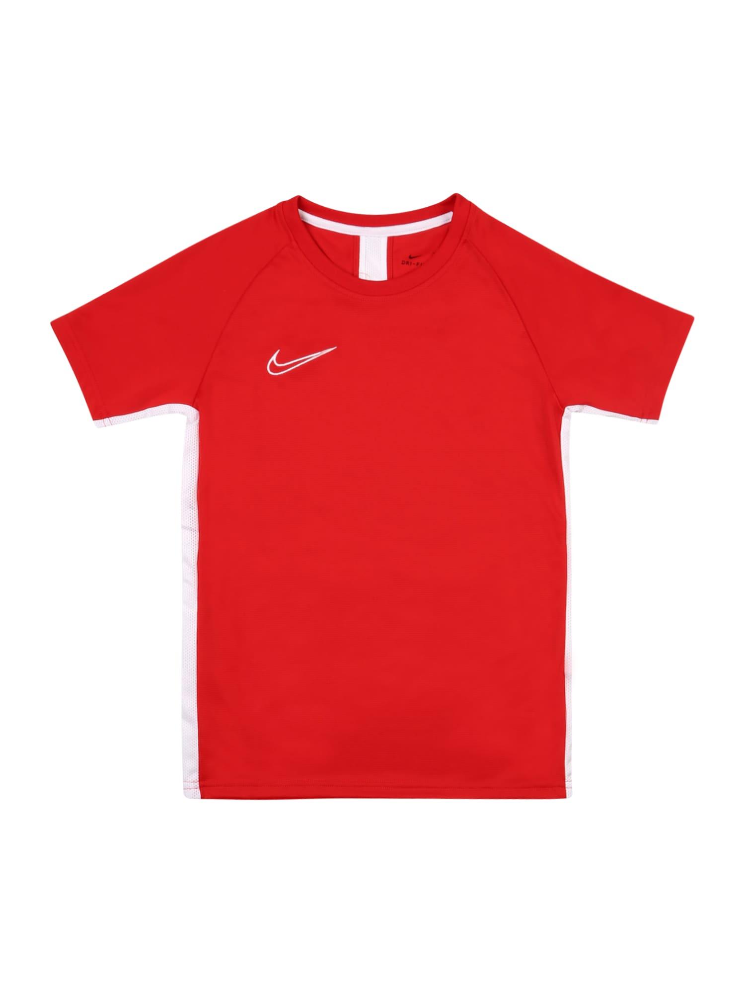 NIKE Funkční tričko 'Academy'  červená / bílá