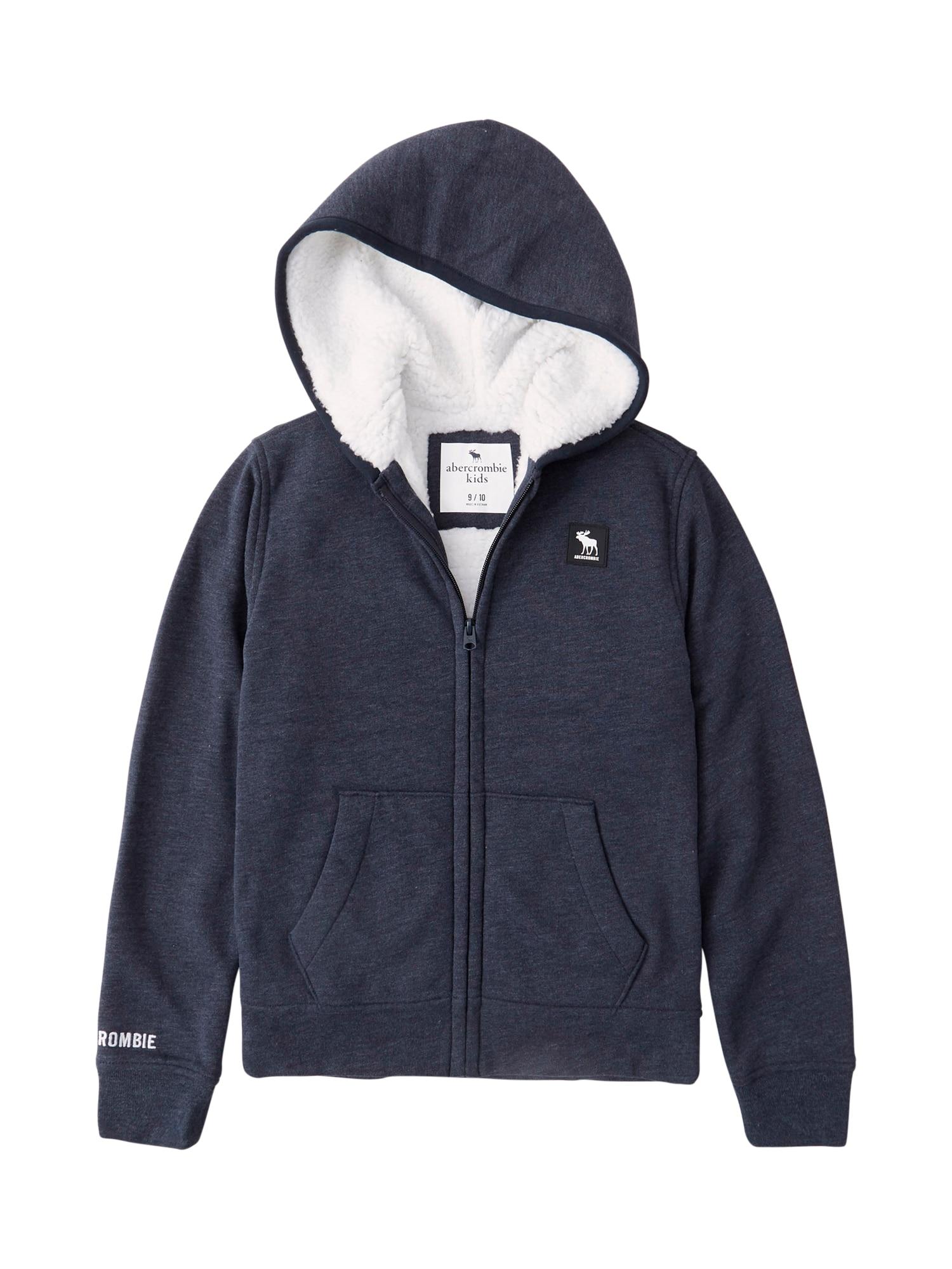 Abercrombie & Fitch Džemperis tamsiai mėlyna / juoda / balta