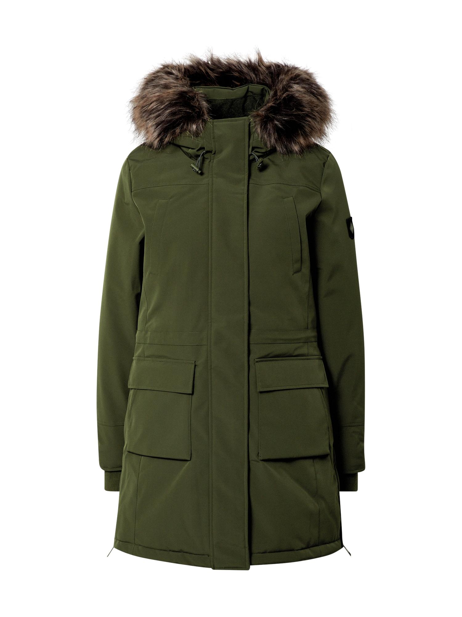 ONLY Přechodný kabát 'Sally'  zelená / béžová