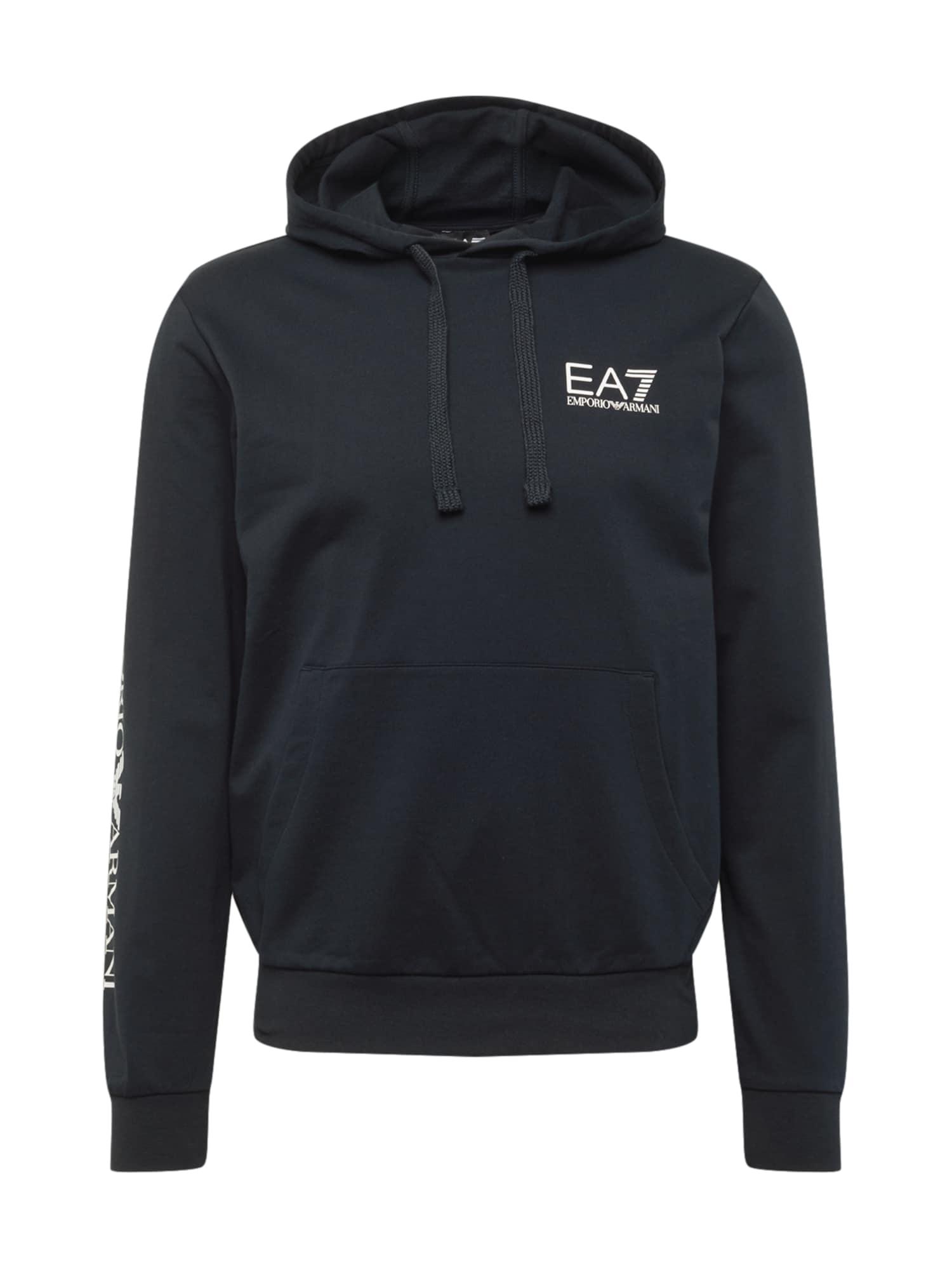 EA7 Emporio Armani Megztinis be užsegimo tamsiai mėlyna / balta