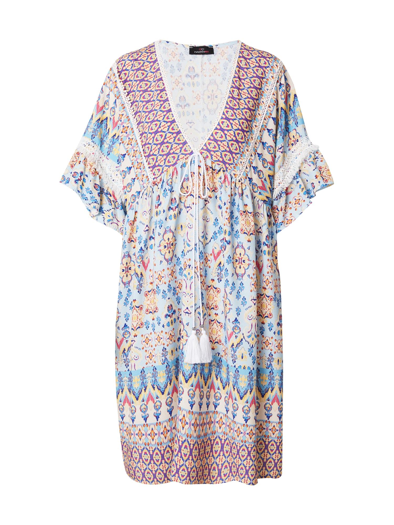 Zwillingsherz Paplūdimio suknelė 'Mina' mėlyna / mišrios spalvos