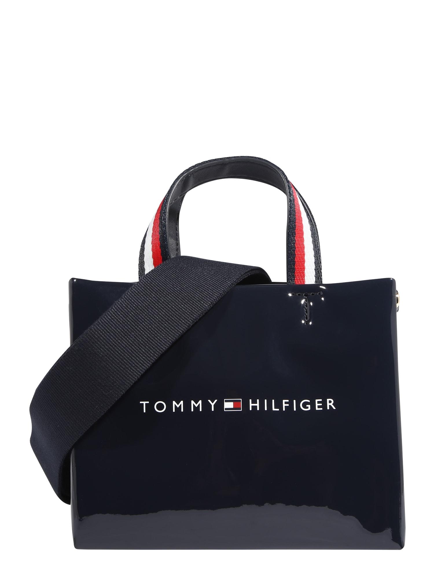 TOMMY HILFIGER Nákupní taška  tmavě modrá / bílá