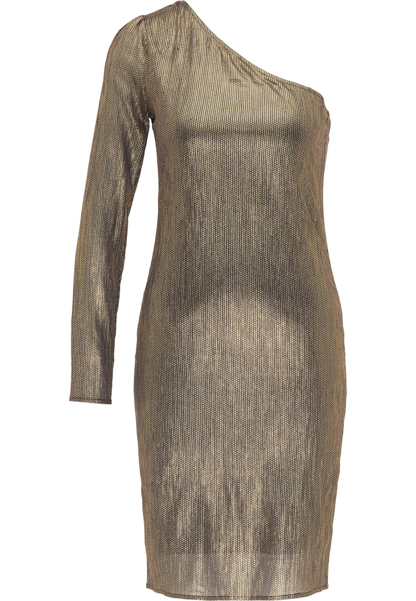faina Kokteilinė suknelė auksas / juoda