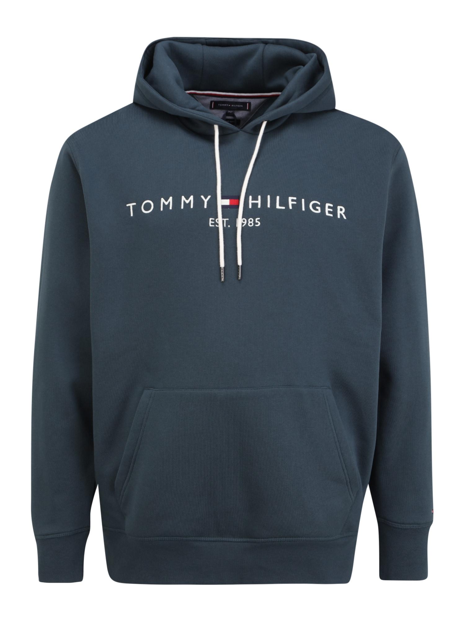 Tommy Hilfiger Big & Tall Megztinis be užsegimo tamsiai mėlyna / balta / ugnies raudona