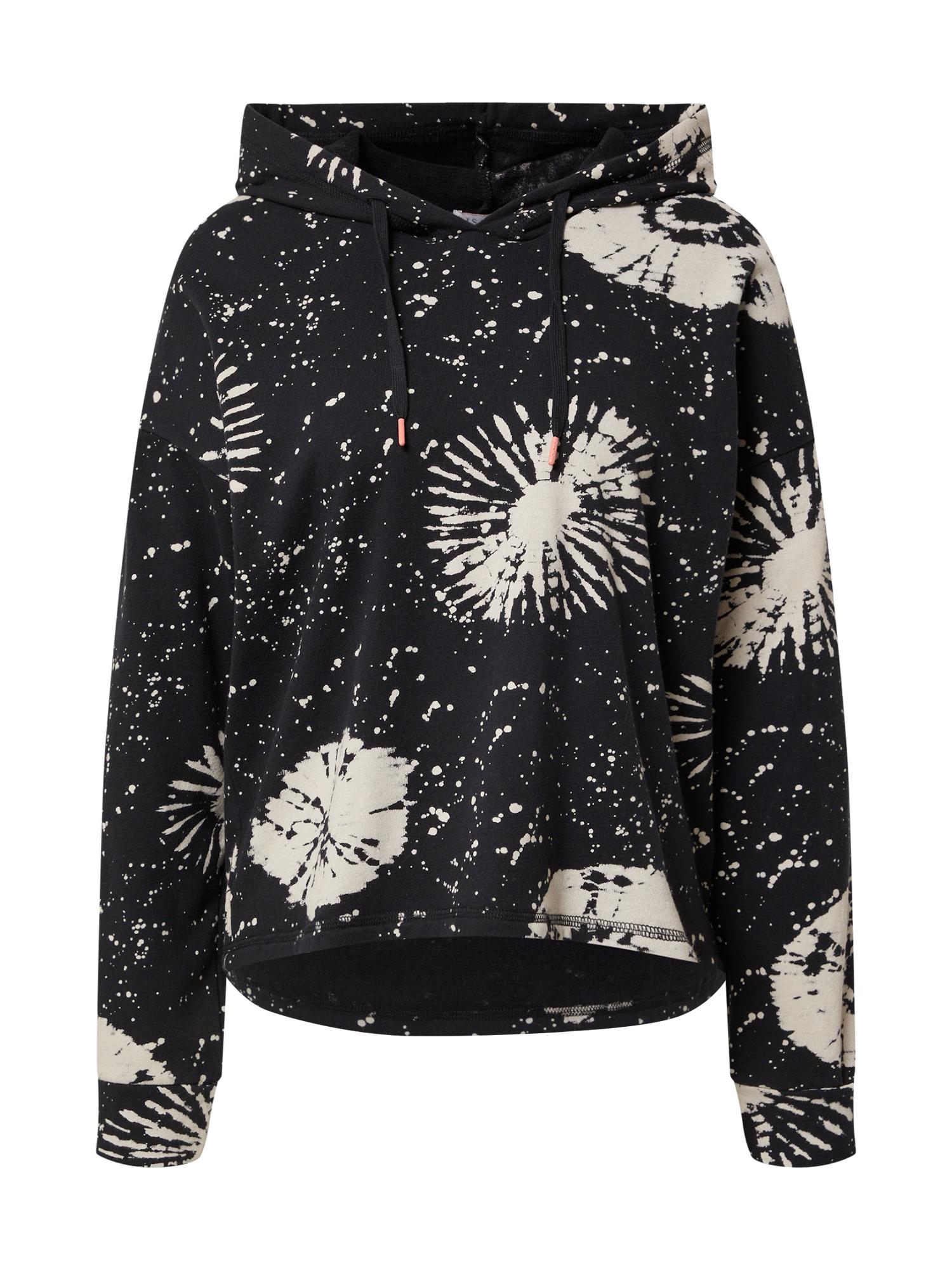 PJ Salvage Pižaminiai marškinėliai juoda / balta