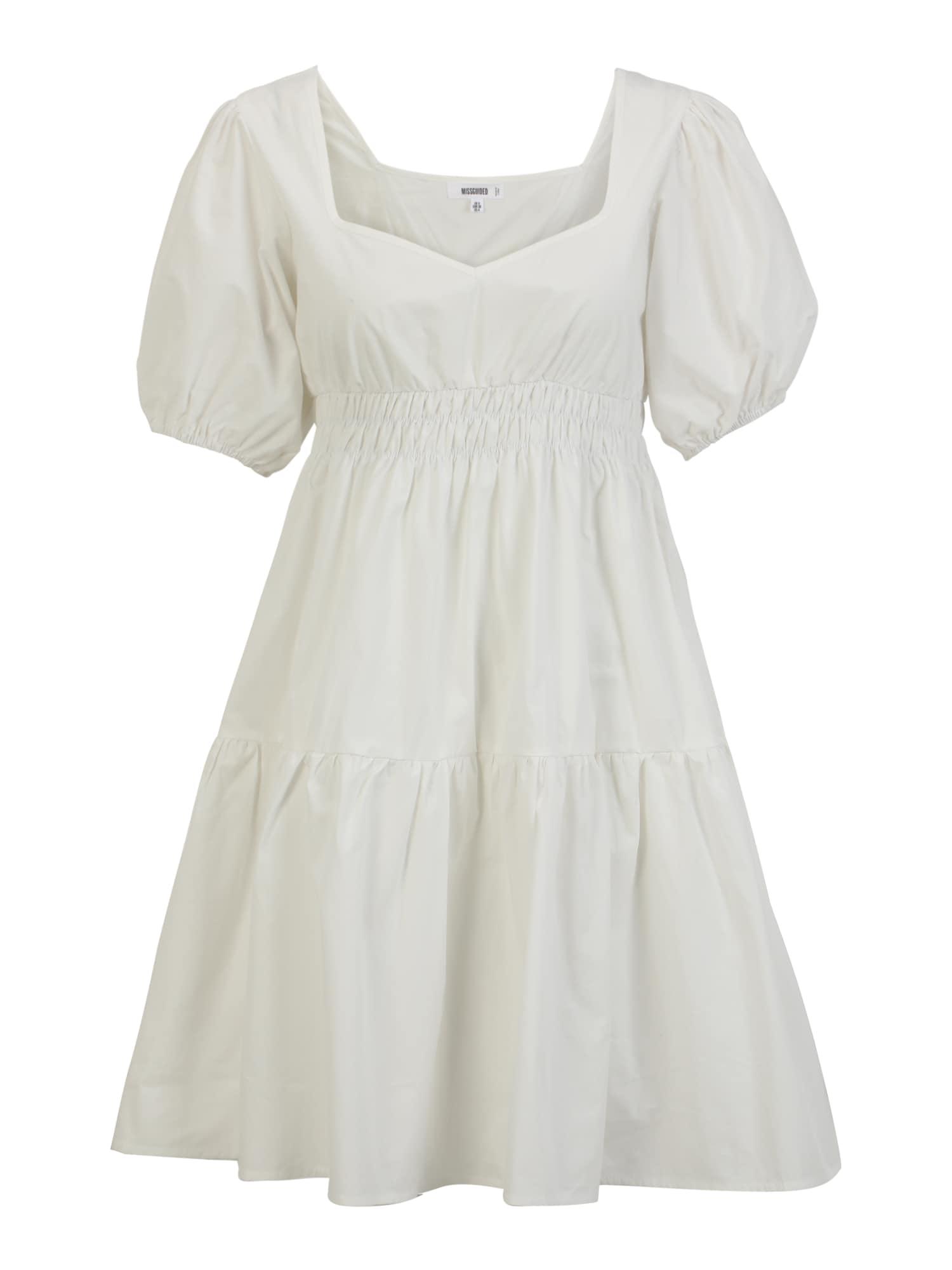 Missguided Maternity Palaidinės tipo suknelė balta