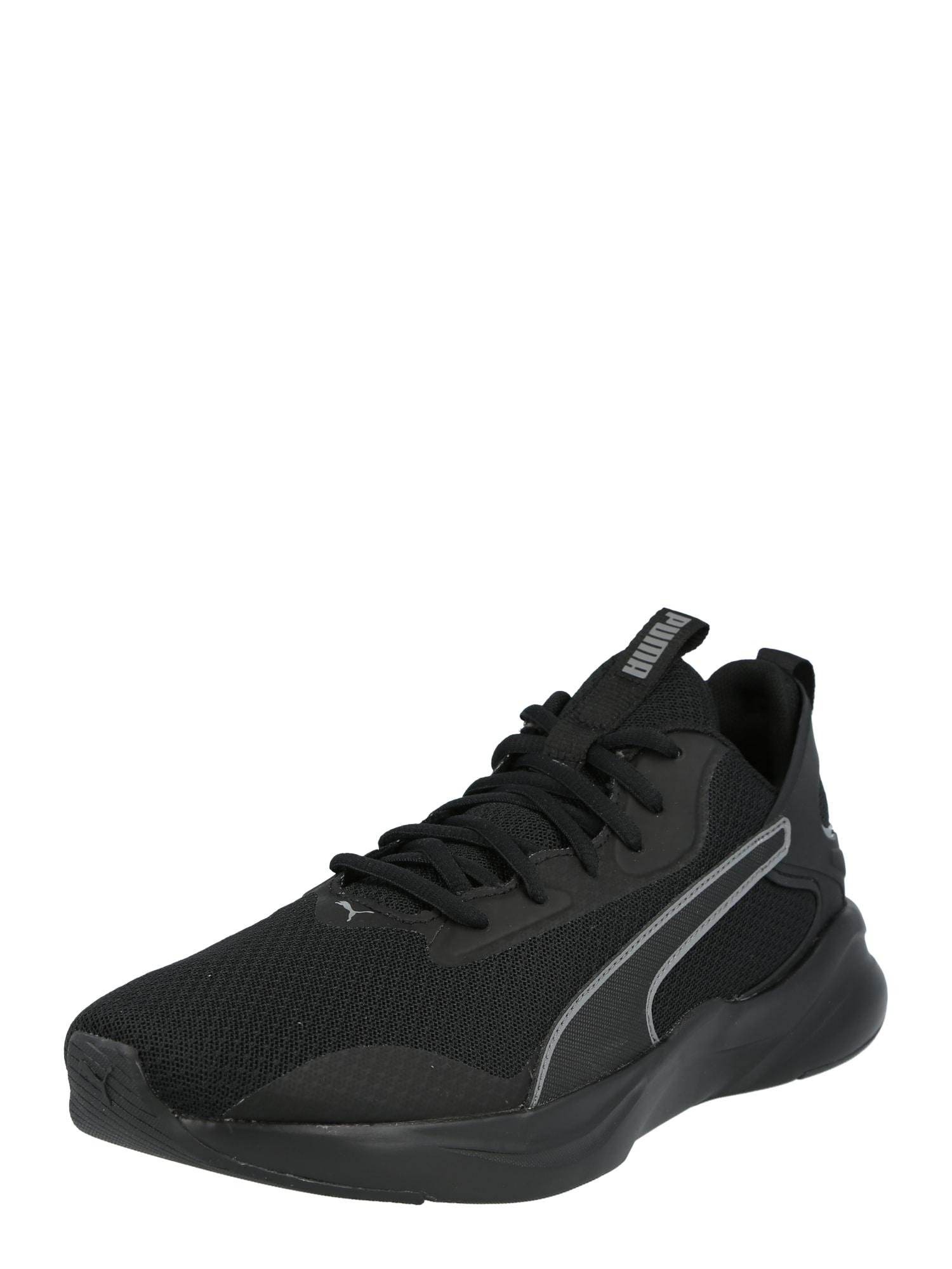 PUMA Bėgimo batai juoda / balta