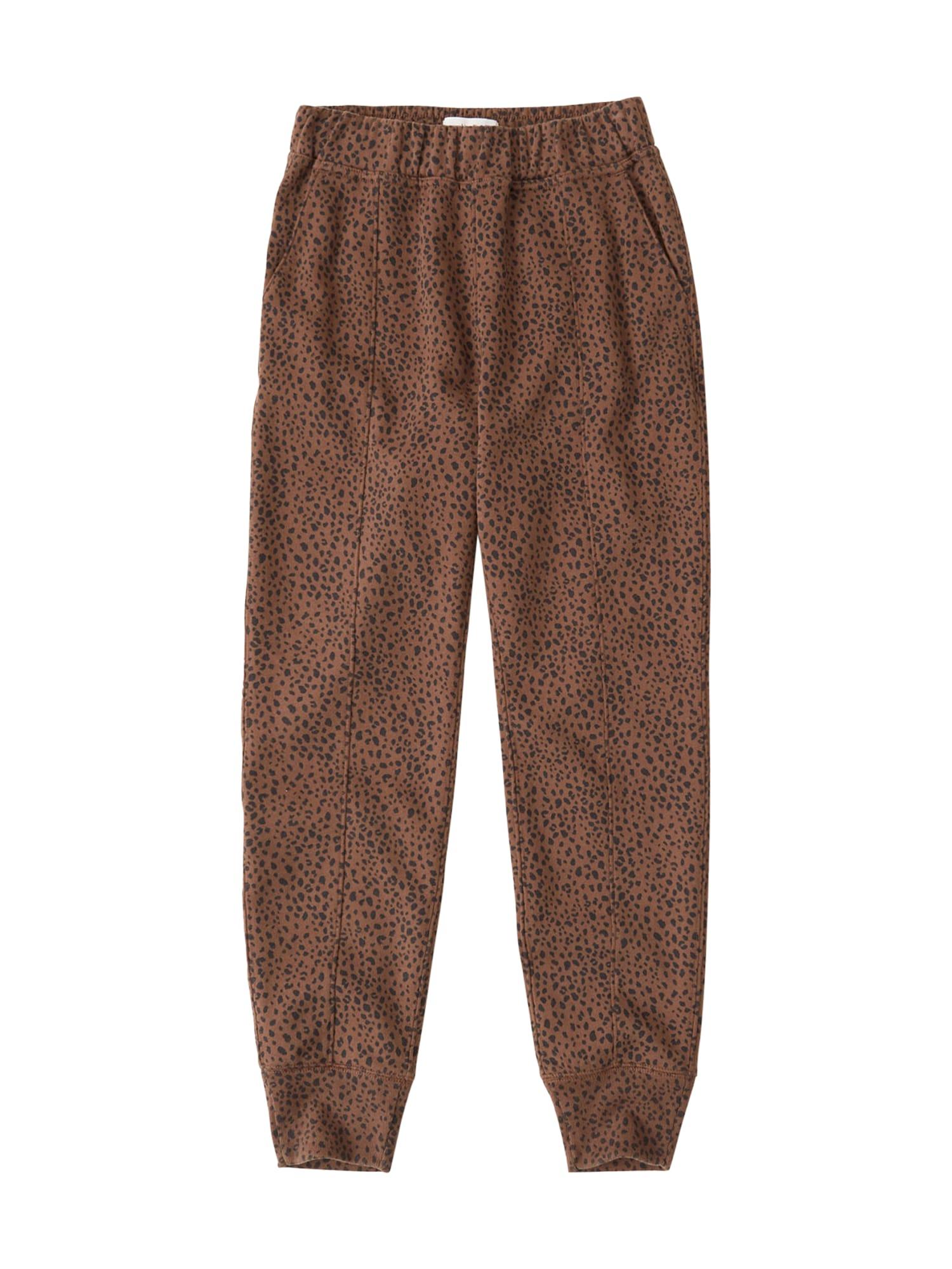 Abercrombie & Fitch Kelnės ruda / juoda