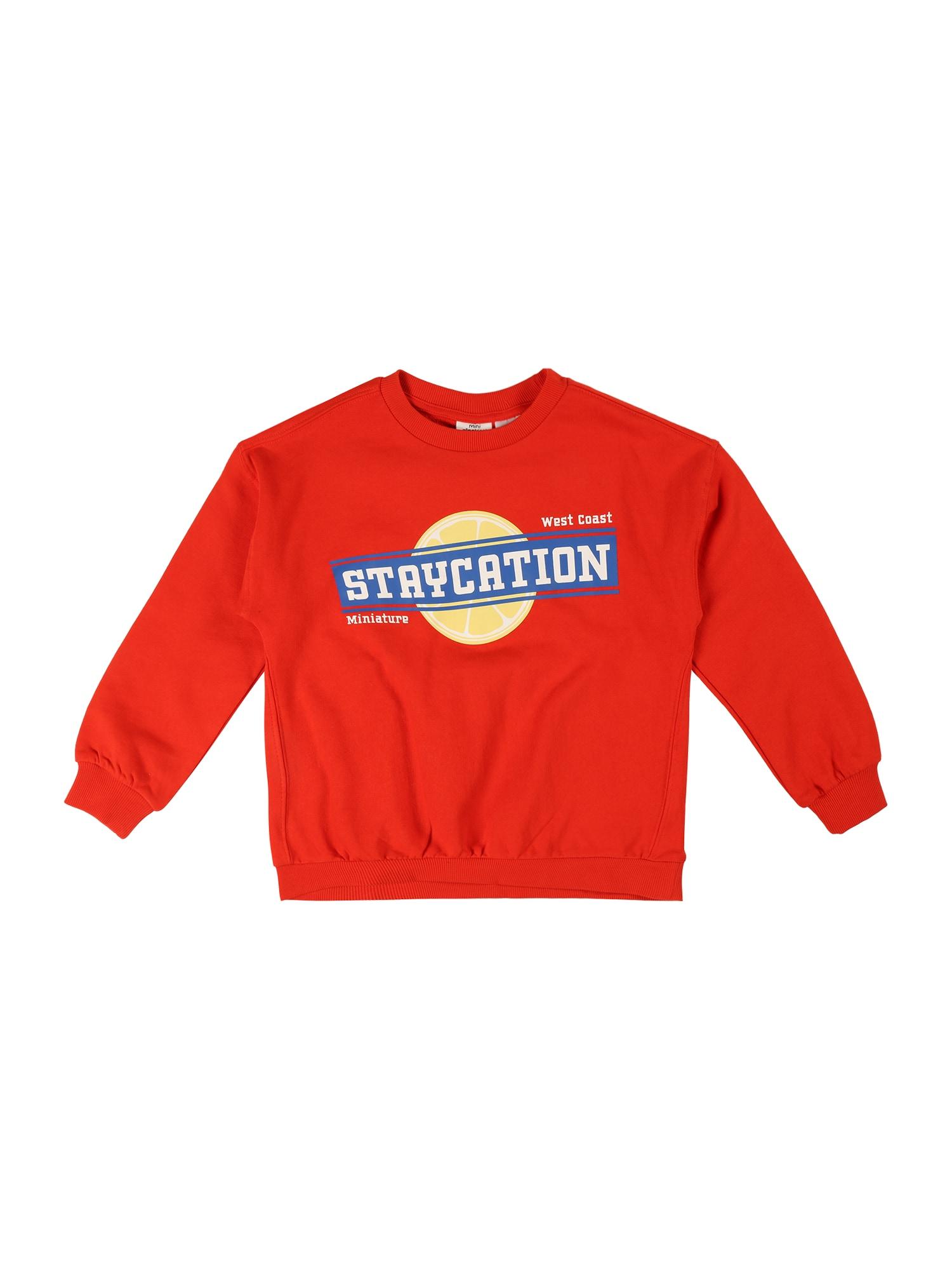 Gina Tricot Mini Megztinis be užsegimo raudona / geltona / mėlyna / balta