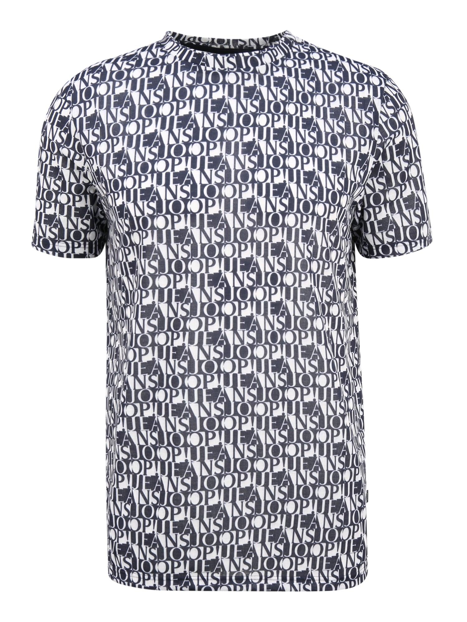 JOOP! Jeans Marškinėliai balta / tamsiai mėlyna
