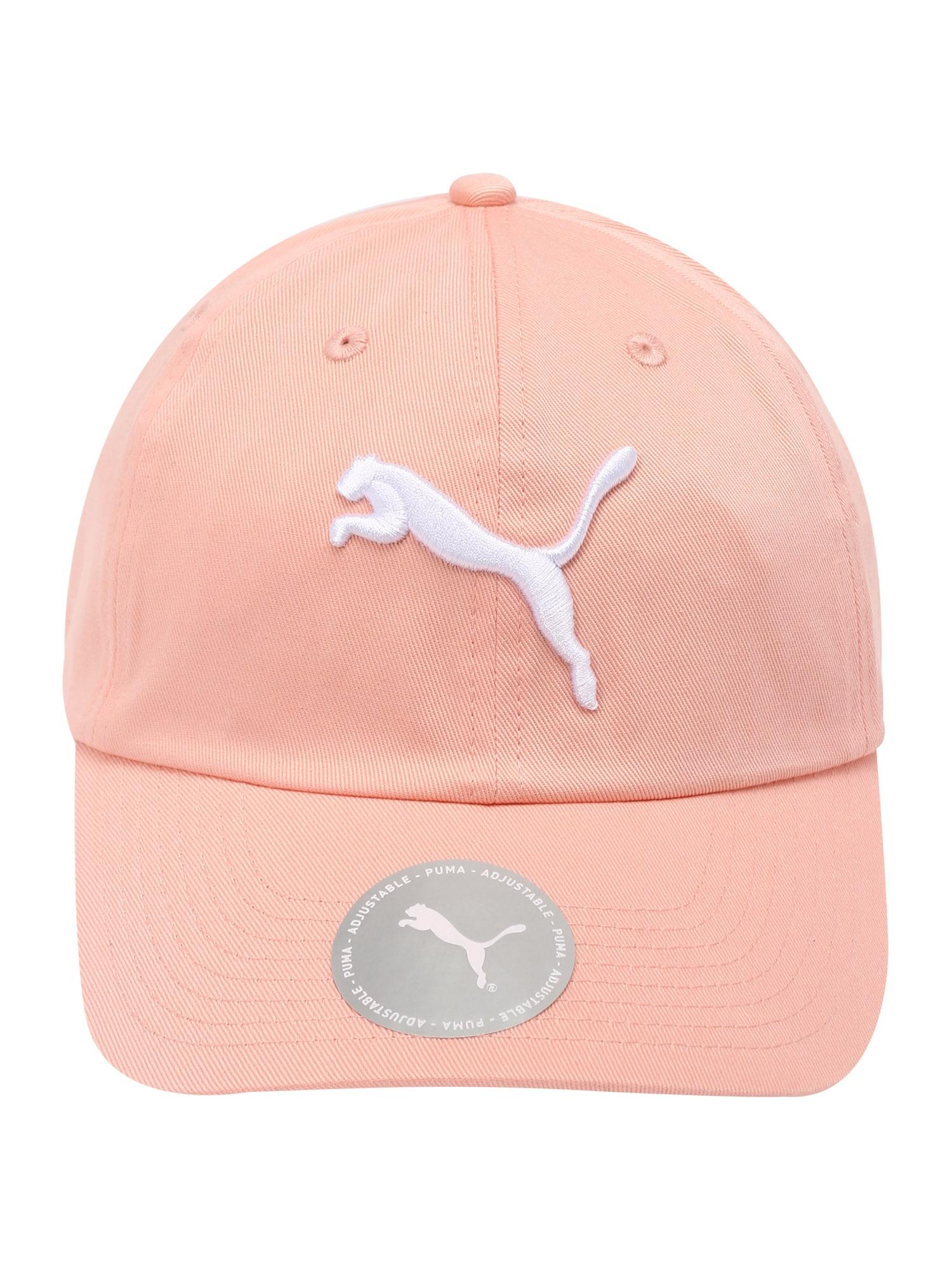 PUMA Sportinė kepurė abrikosų spalva / balta