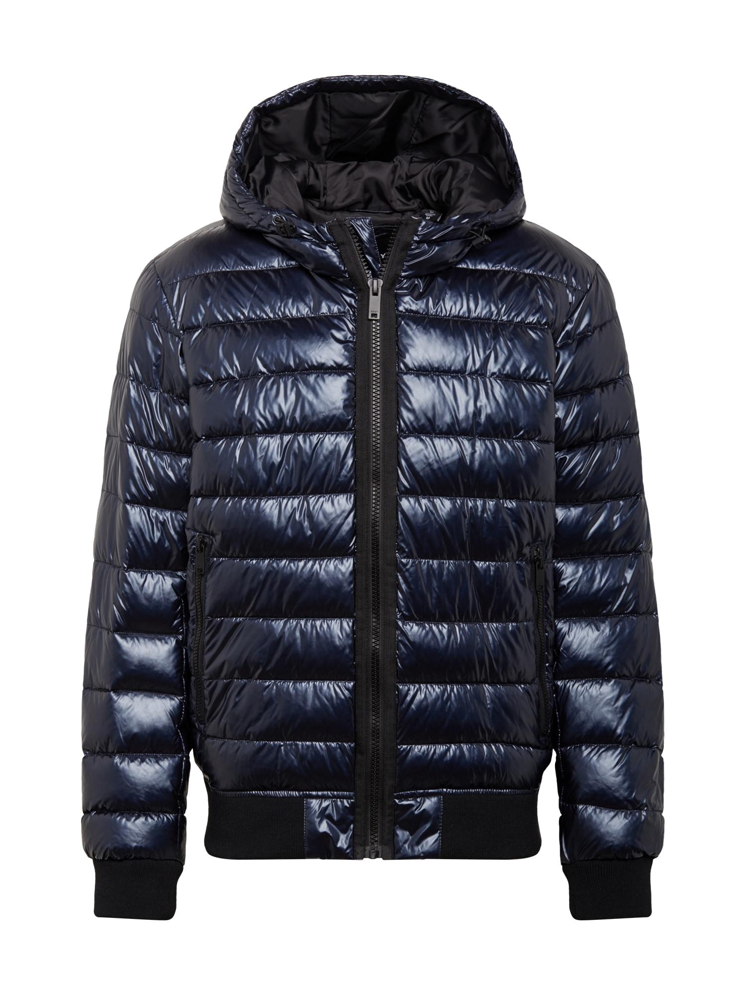 DKNY Žieminė striukė tamsiai mėlyna / juoda