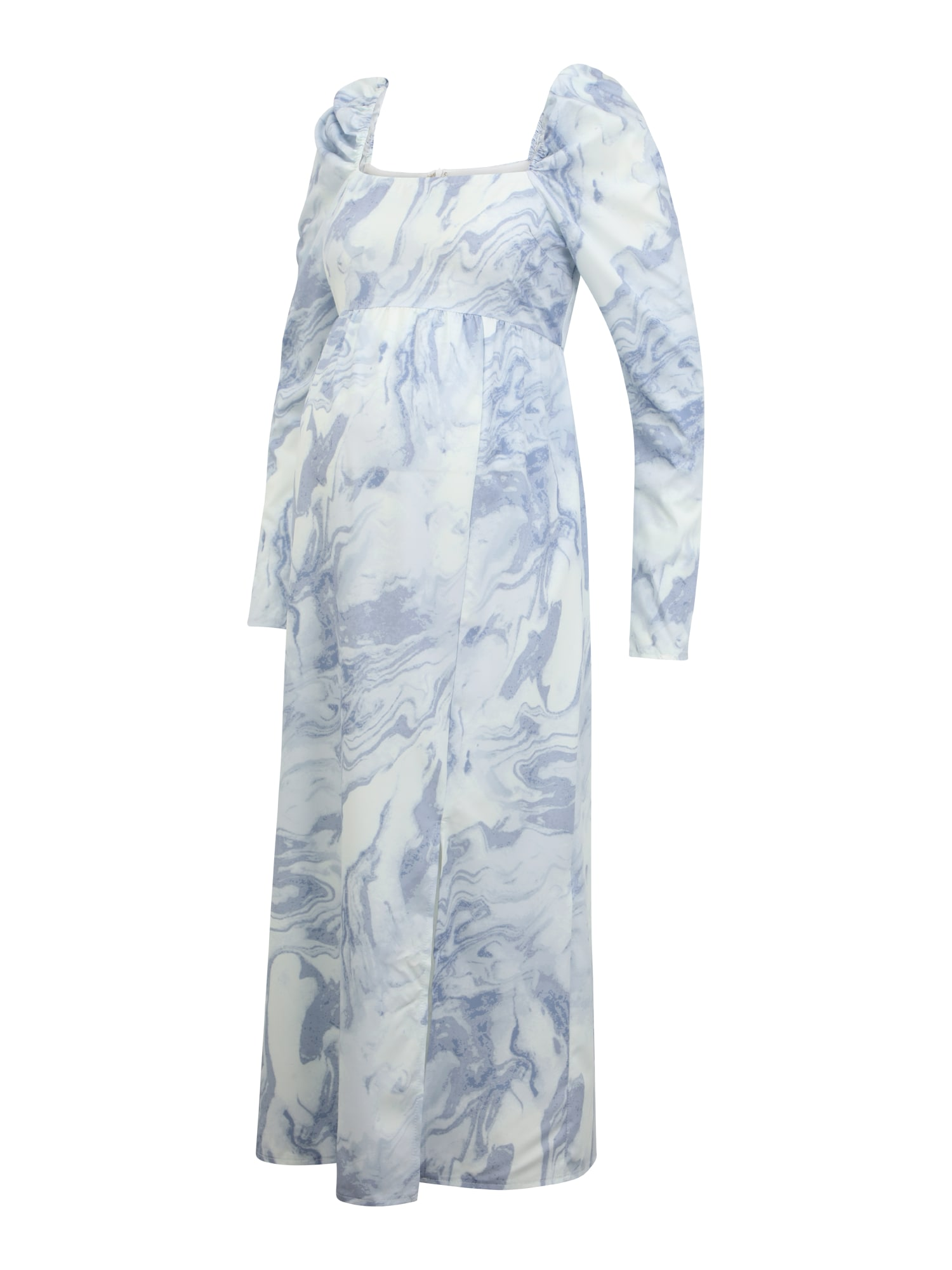 Missguided Maternity Suknelė balta / mėlyna dūmų spalva