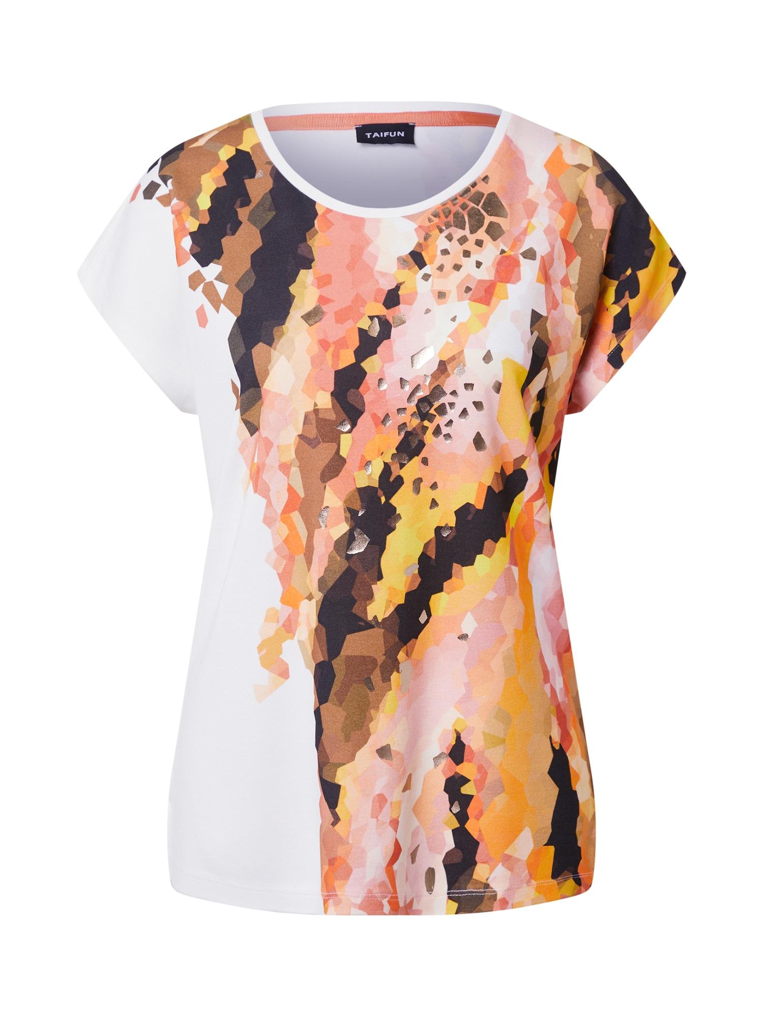 TAIFUN Marškinėliai oranžinė / omarų spalva / ruda / balta