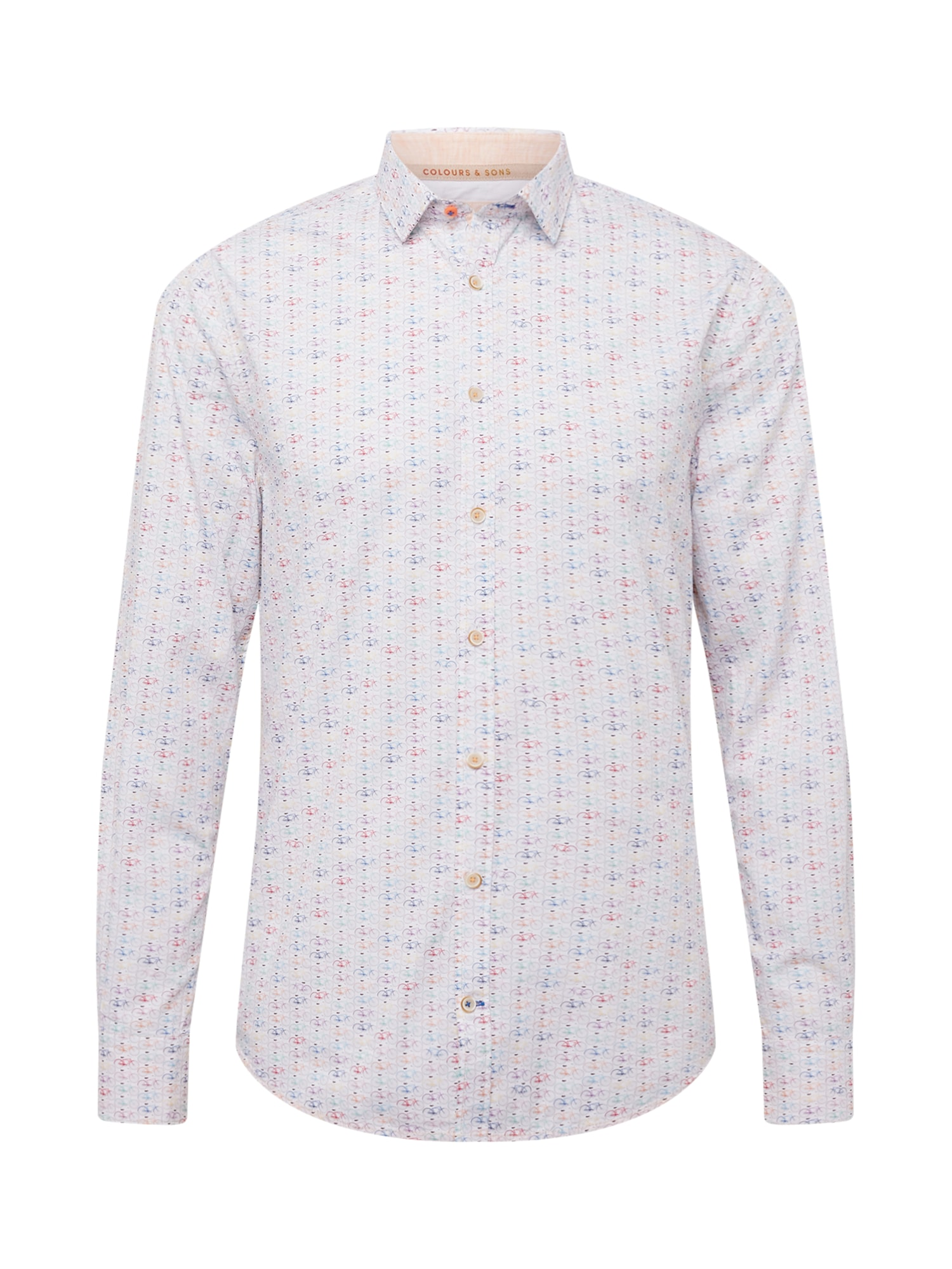 COLOURS & SONS Marškiniai šviesiai mėlyna / mišrios spalvos