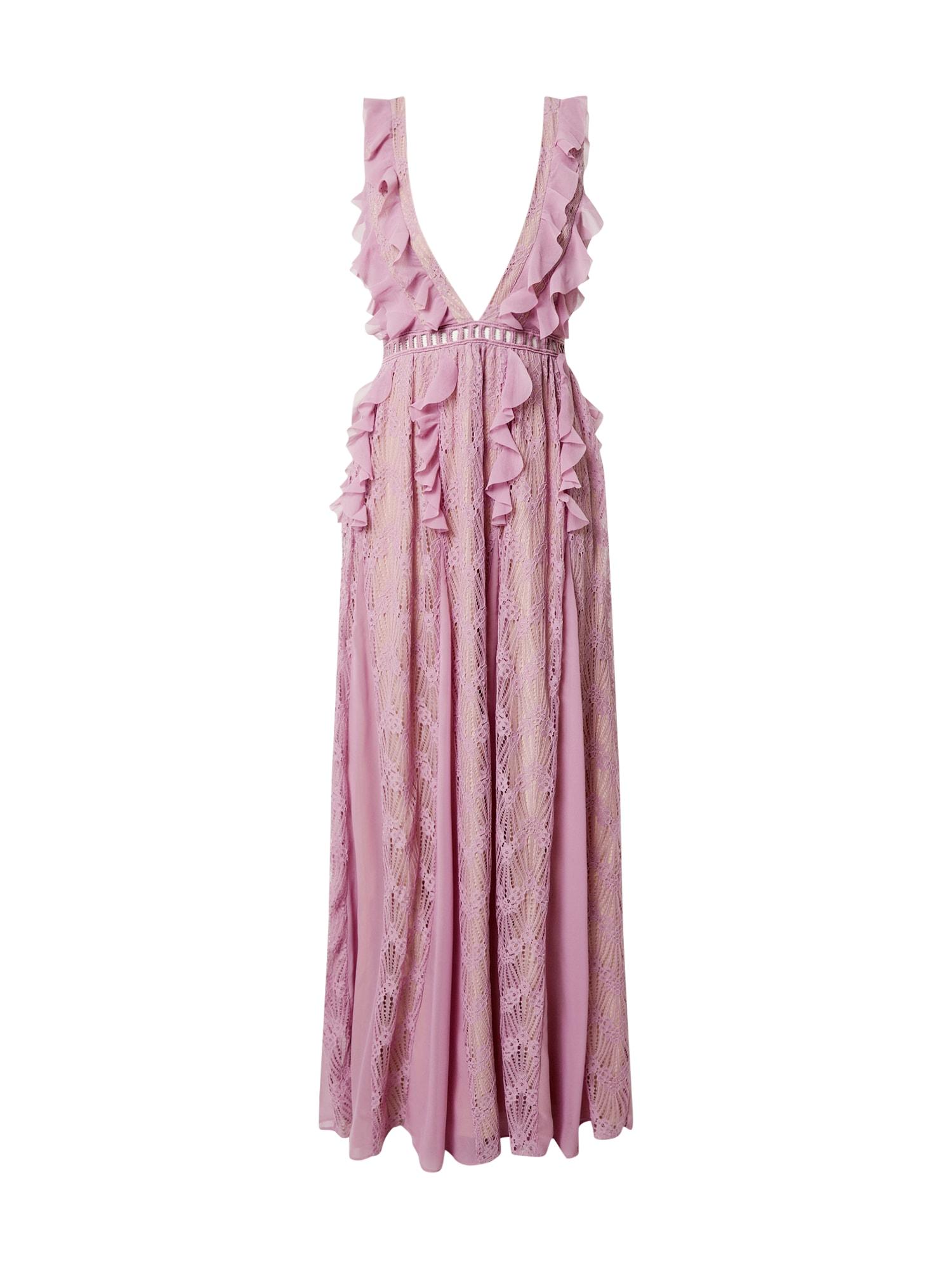 True Decadence Vakarinė suknelė levandų spalva