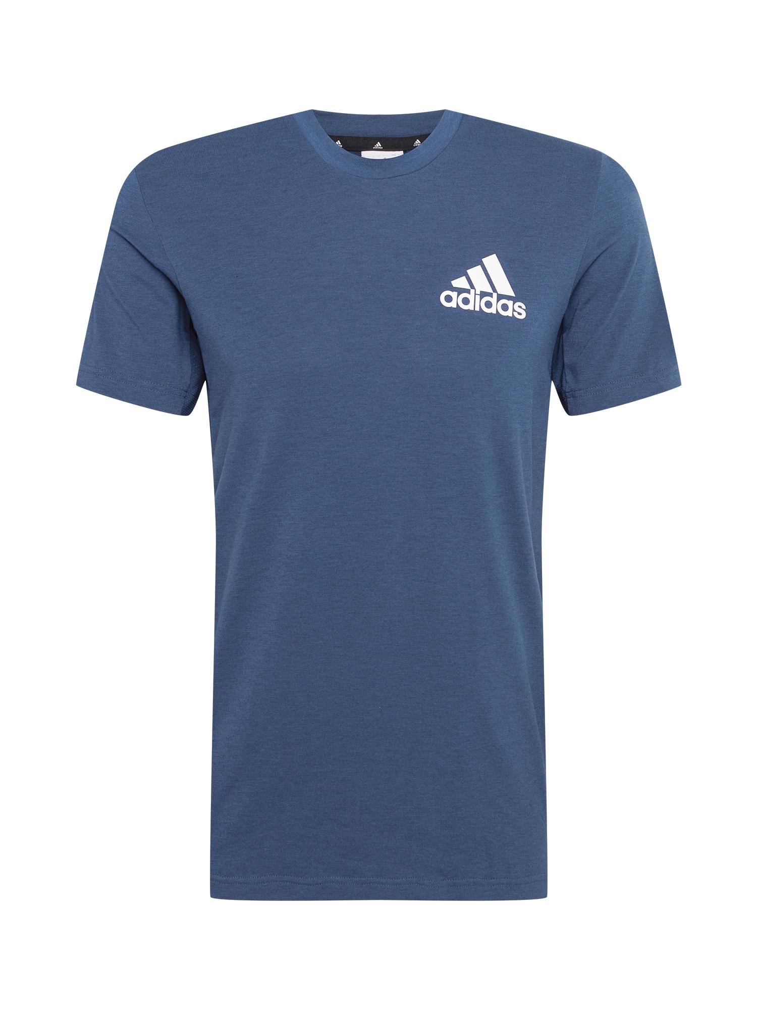 ADIDAS PERFORMANCE Funkční tričko  kouřově modrá / bílá
