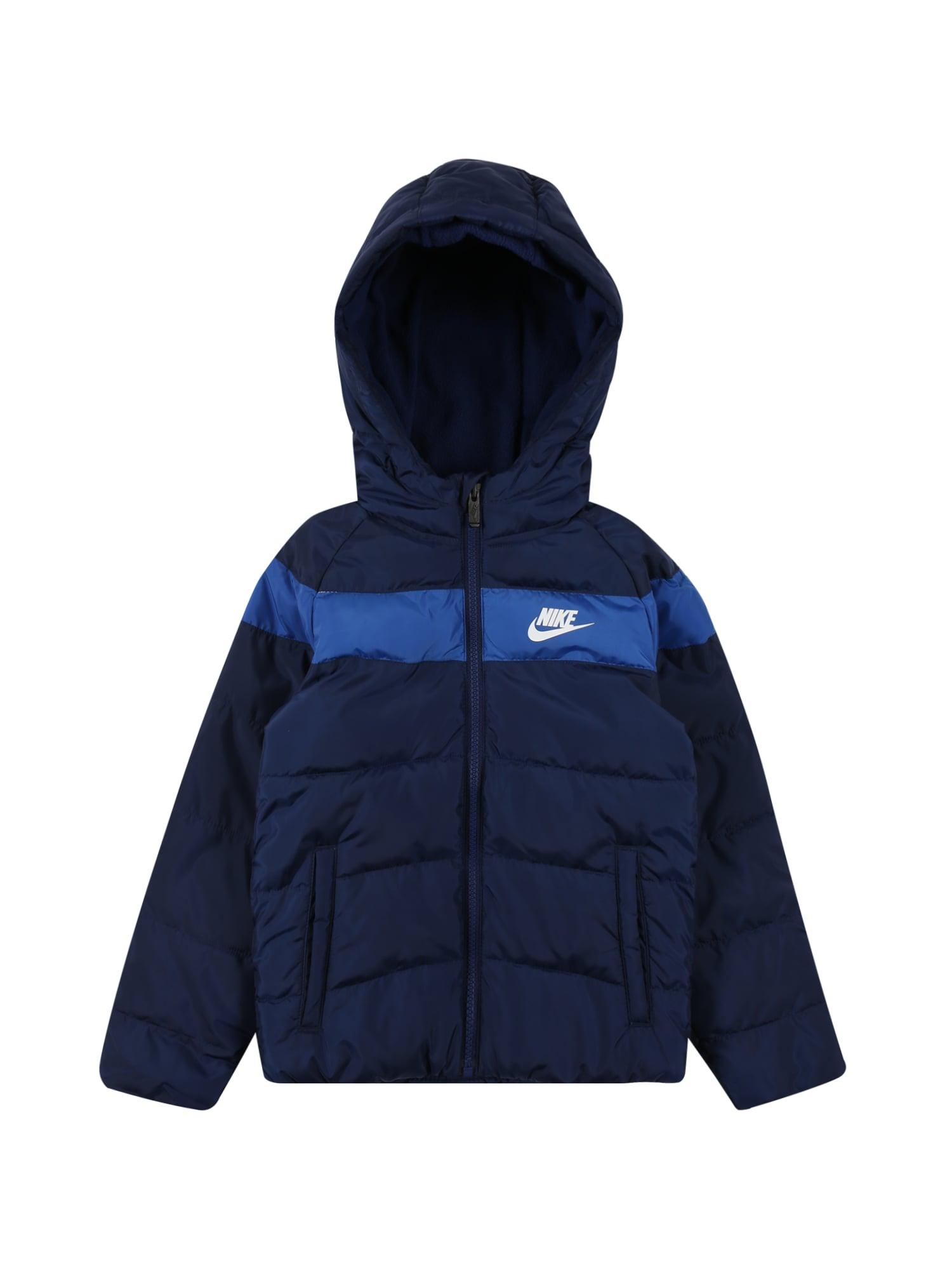 Nike Sportswear Demisezoninė striukė mėlyna / tamsiai mėlyna