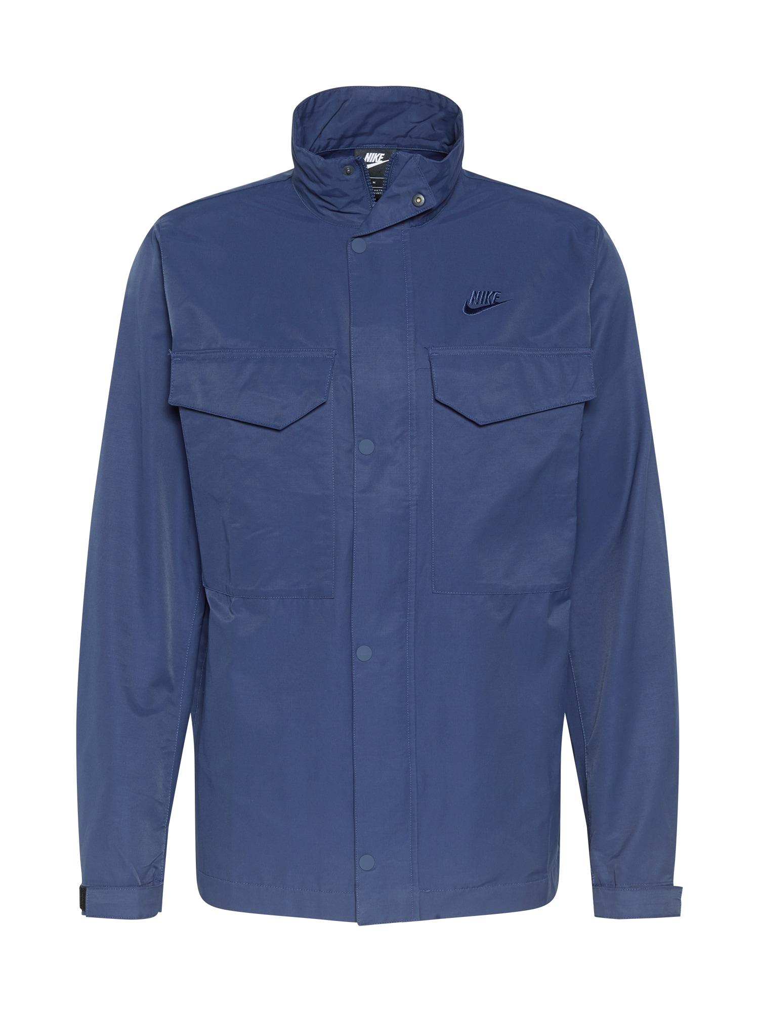 Nike Sportswear Demisezoninė striukė tamsiai mėlyna