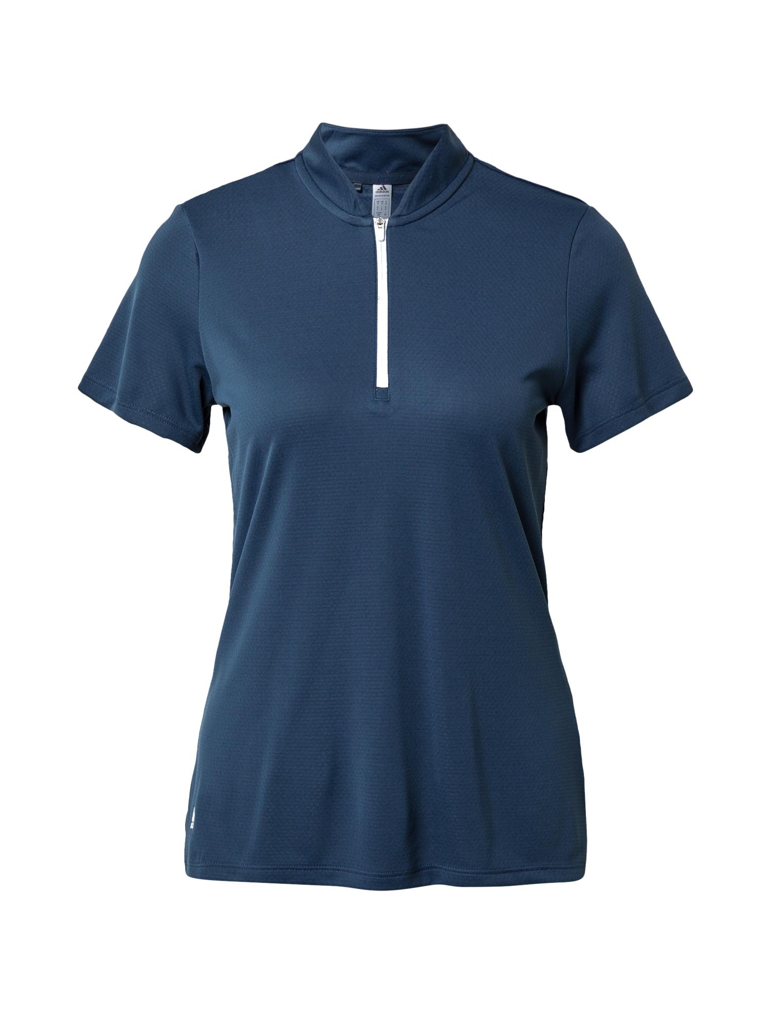 adidas Golf Marškinėliai balta / tamsiai mėlyna jūros spalva