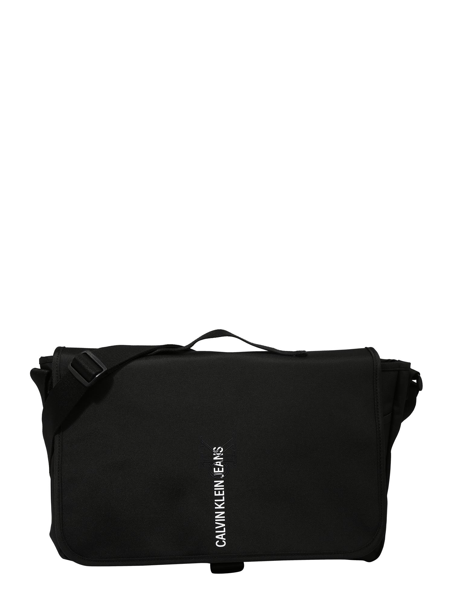 "Calvin Klein Jeans ""Messenger"" stiliaus rankinė juoda / balta"