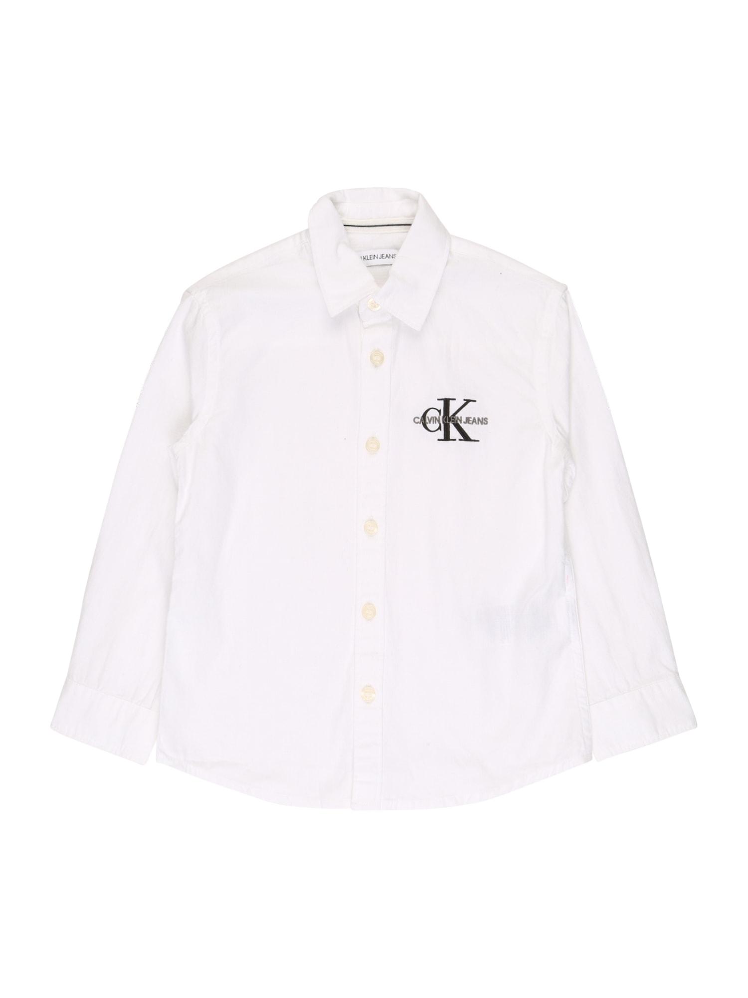 Calvin Klein Jeans Halenka  bílá / černá