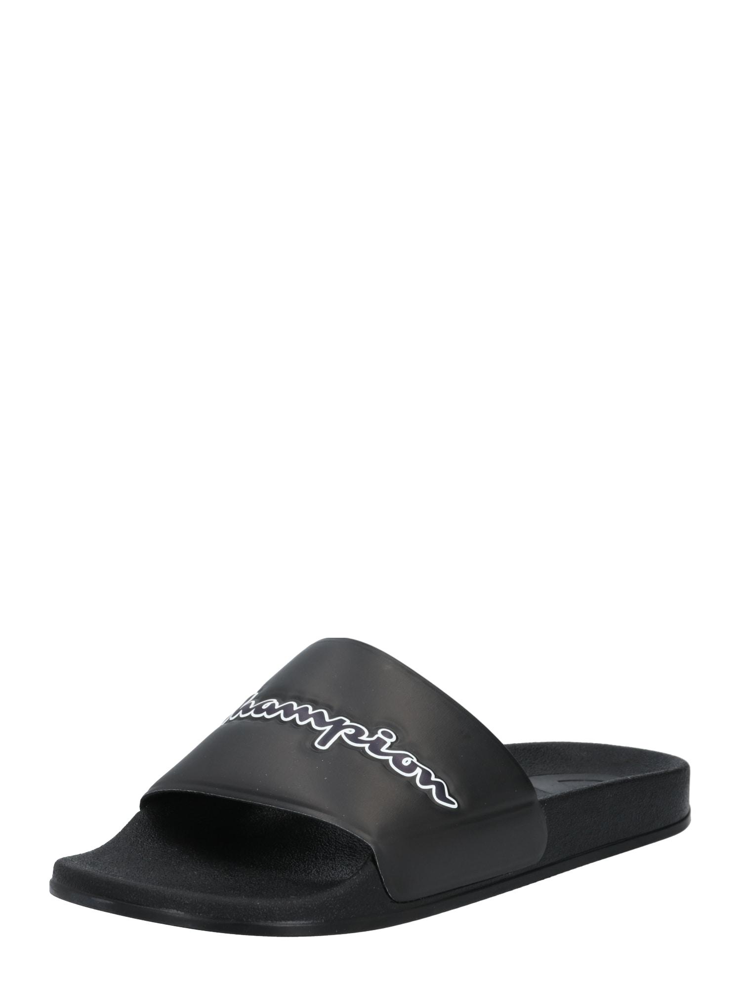 Champion Authentic Athletic Apparel Sandalai / maudymosi batai juoda / balta