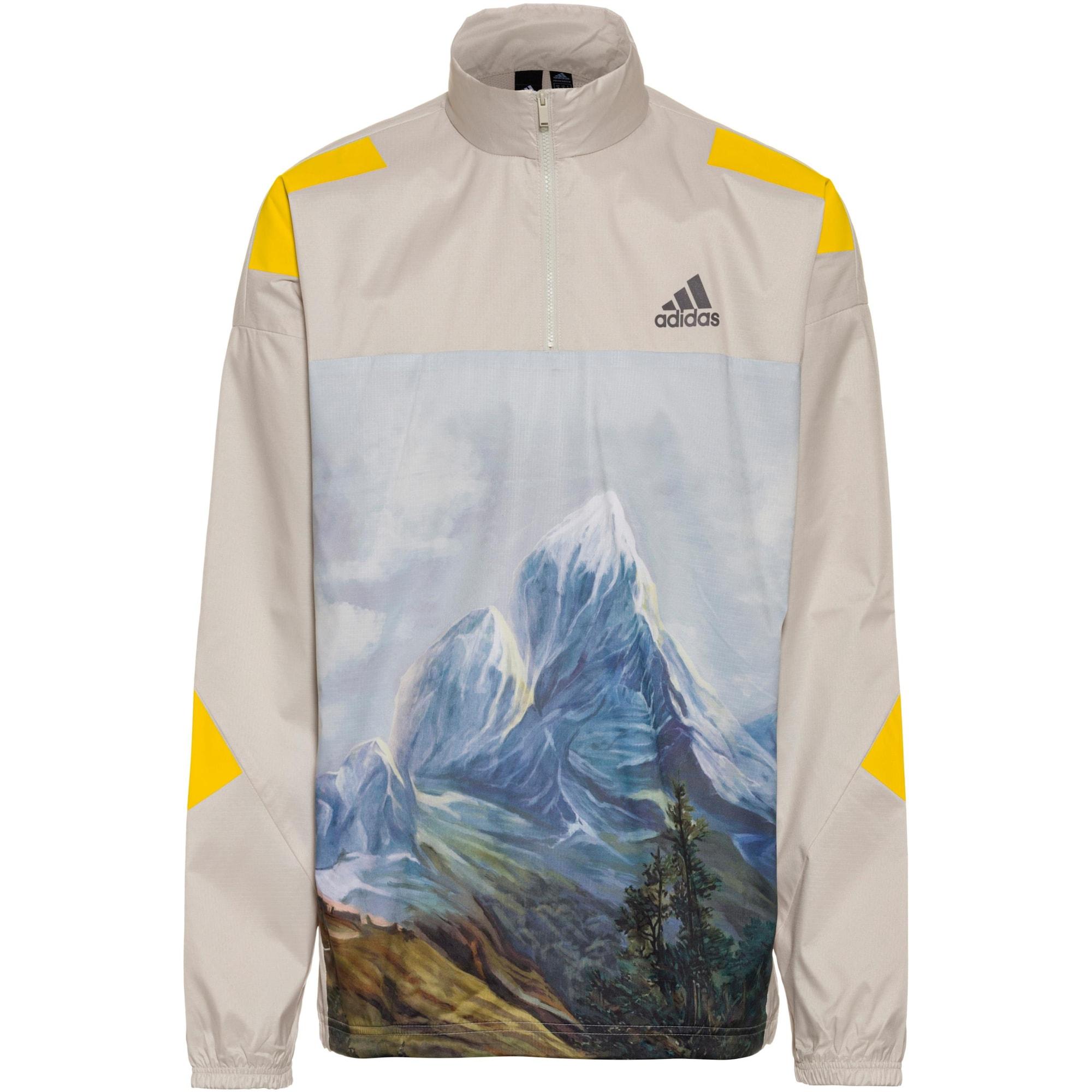 ADIDAS PERFORMANCE Sportovní mikina 'Mountain Graphic'  bílá / žlutá / modrá / zelená / hnědá