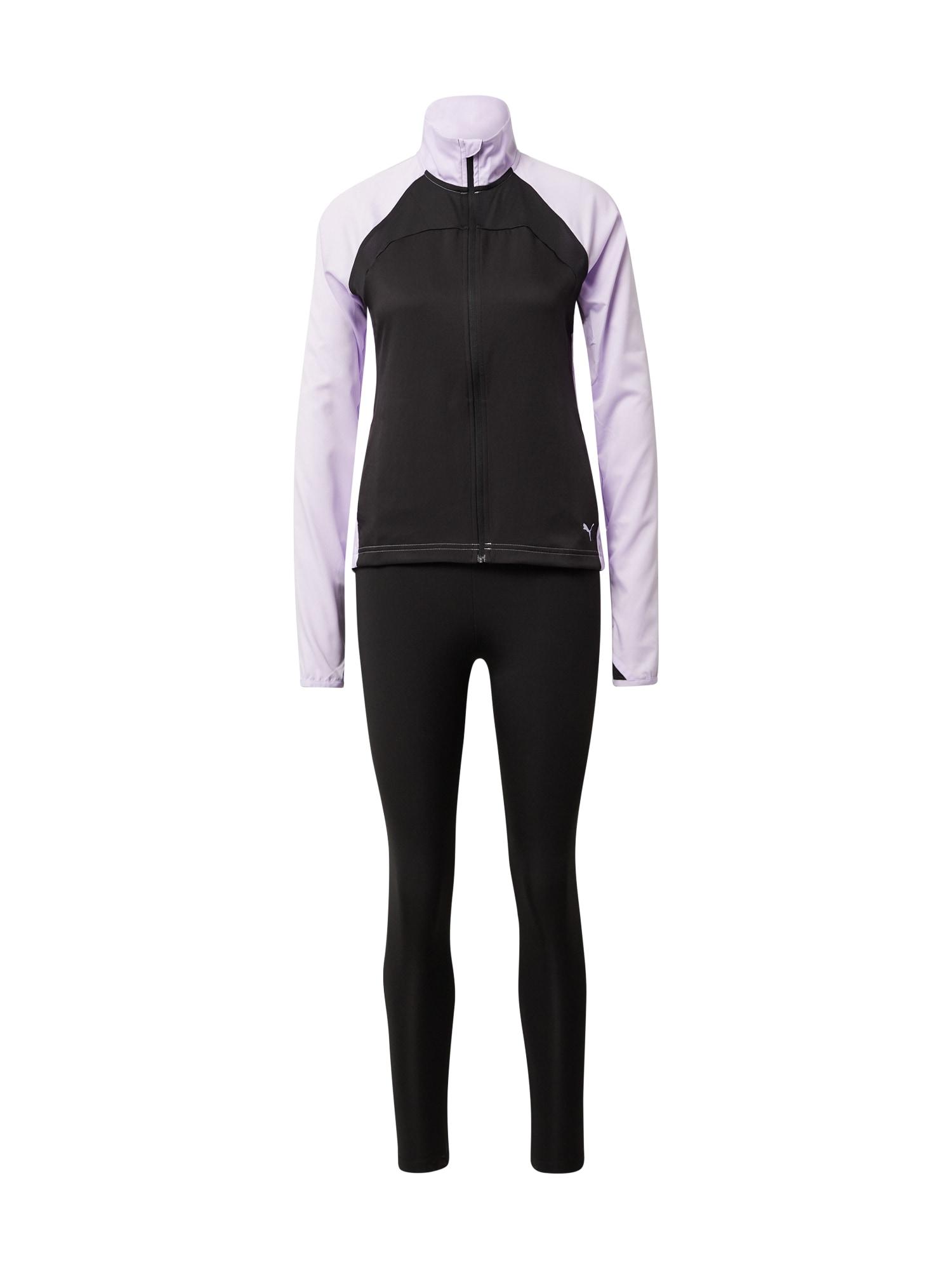 PUMA Treniruočių kostiumas 'Active Yogini' pastelinė violetinė / juoda