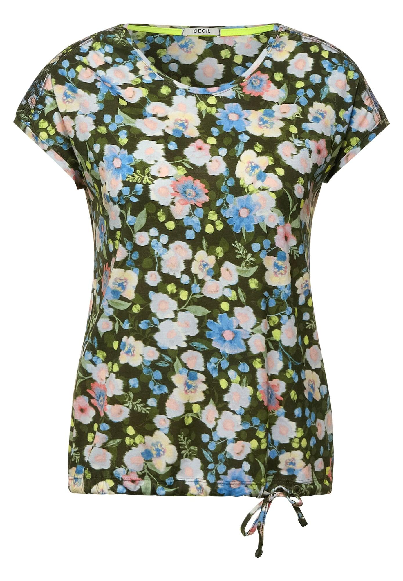 CECIL Marškinėliai žalia / mėlyna / geltona / rožinė