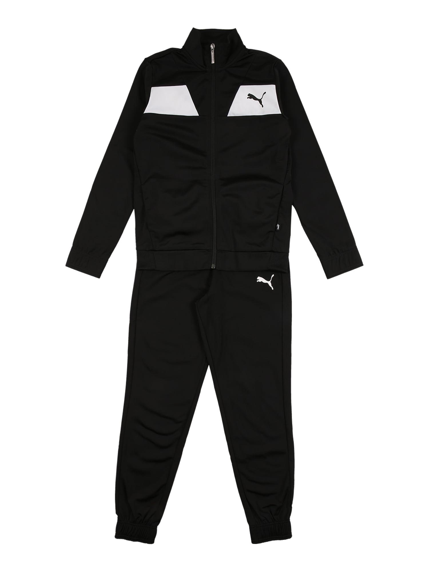 PUMA Treniruočių kostiumas juoda / balta