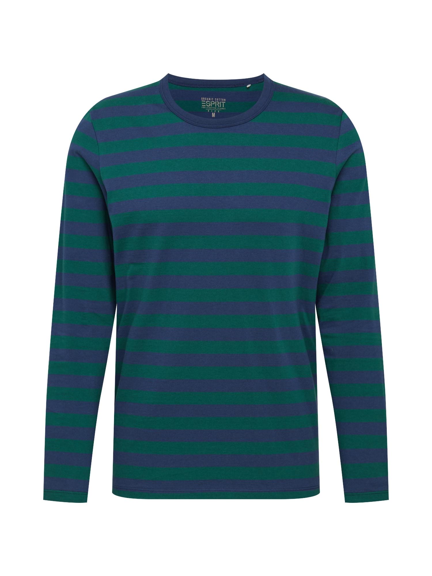 ESPRIT Marškinėliai tamsiai žalia