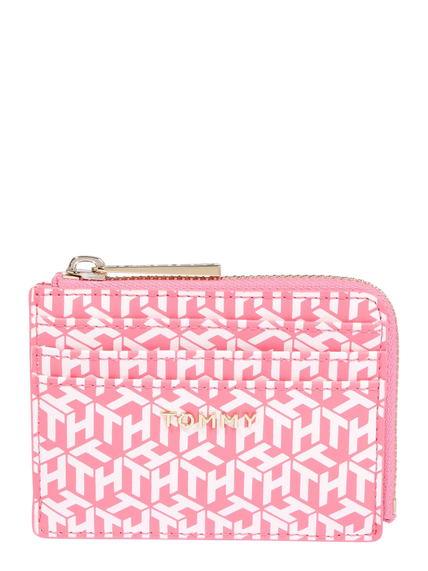 TOMMY HILFIGER Peněženka  pink / bílá