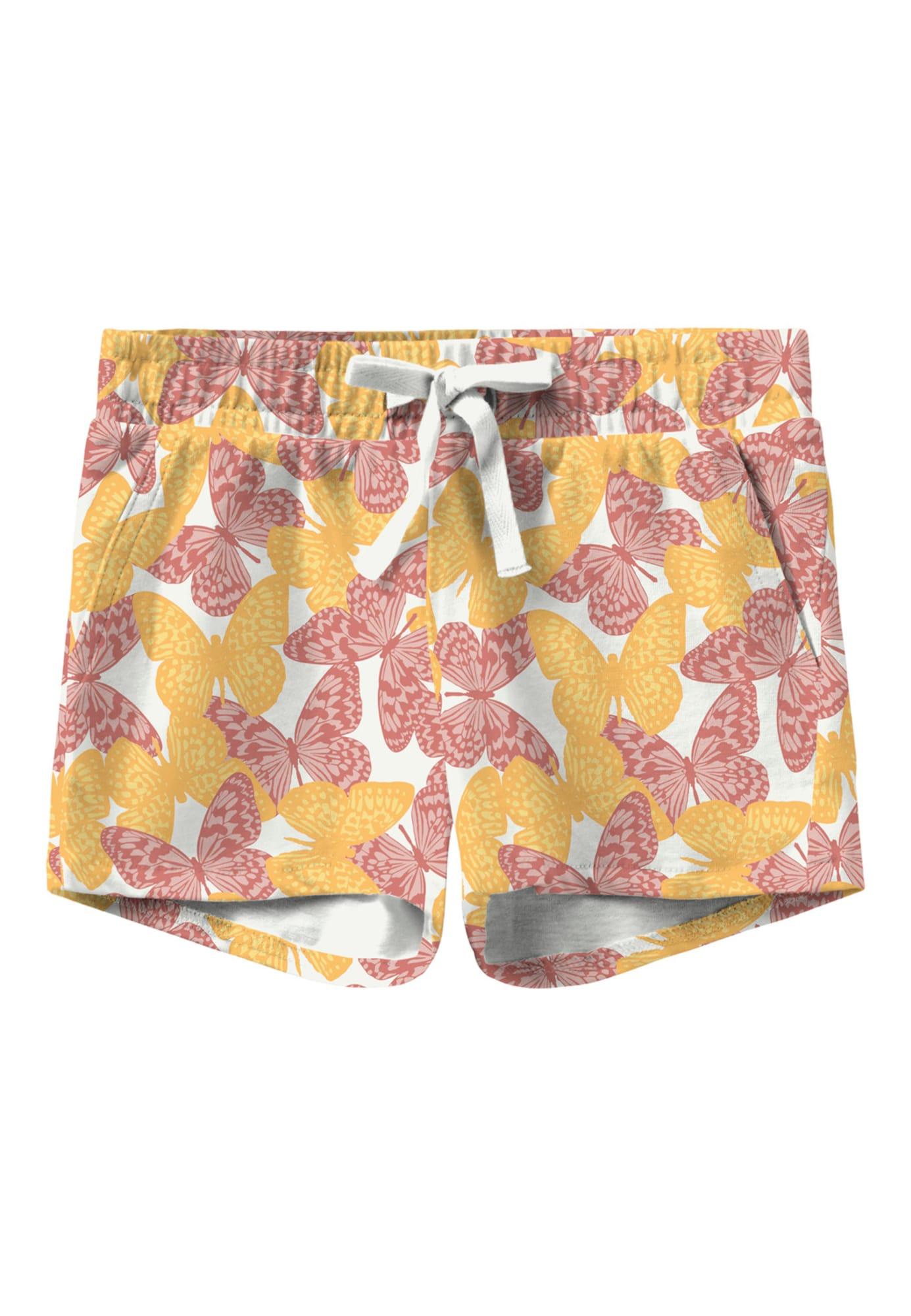 NAME IT Kalhoty 'Vigga'  bílá / žlutá / burgundská červeň