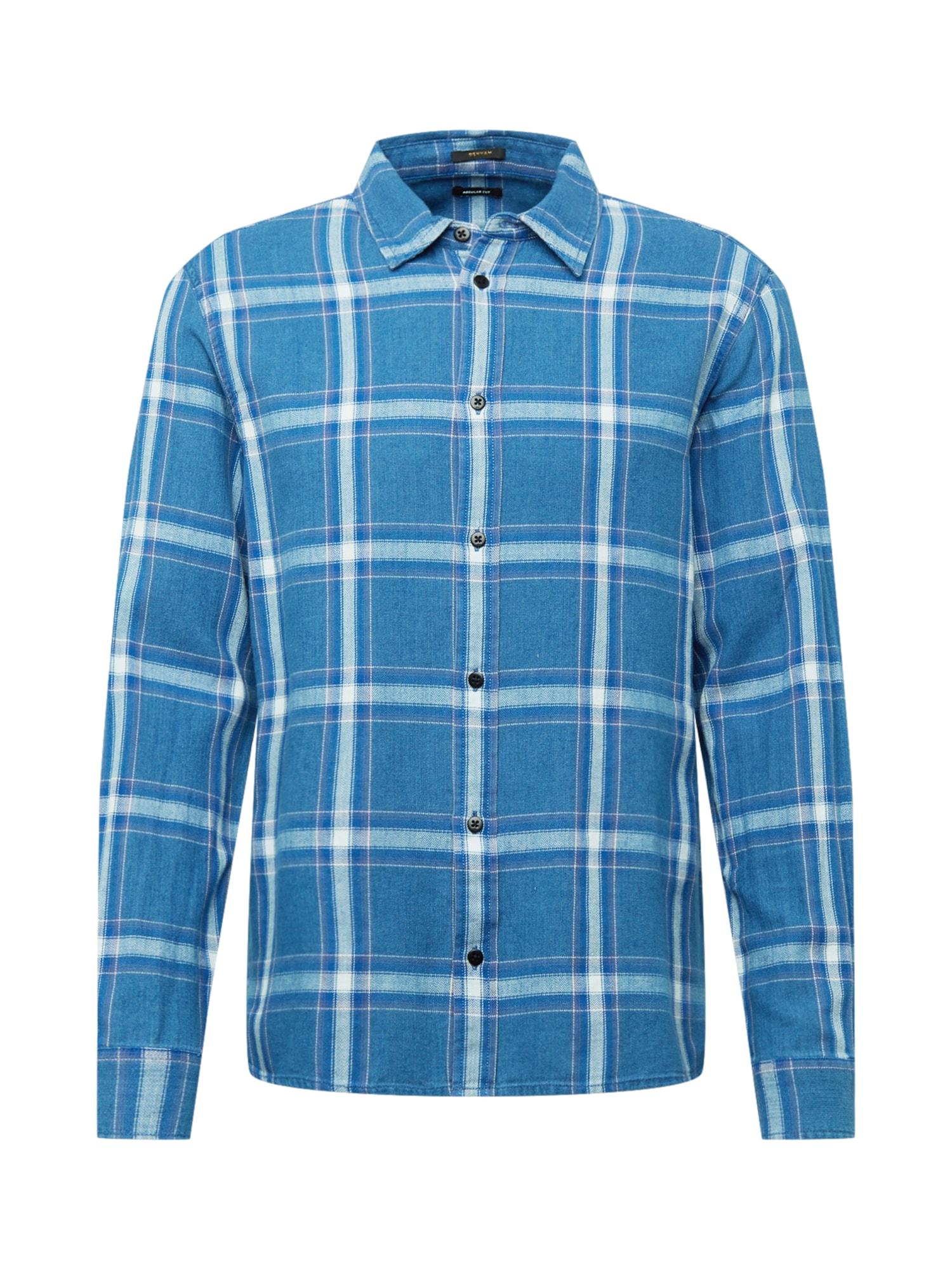 DENHAM Marškiniai mėlyna / balta