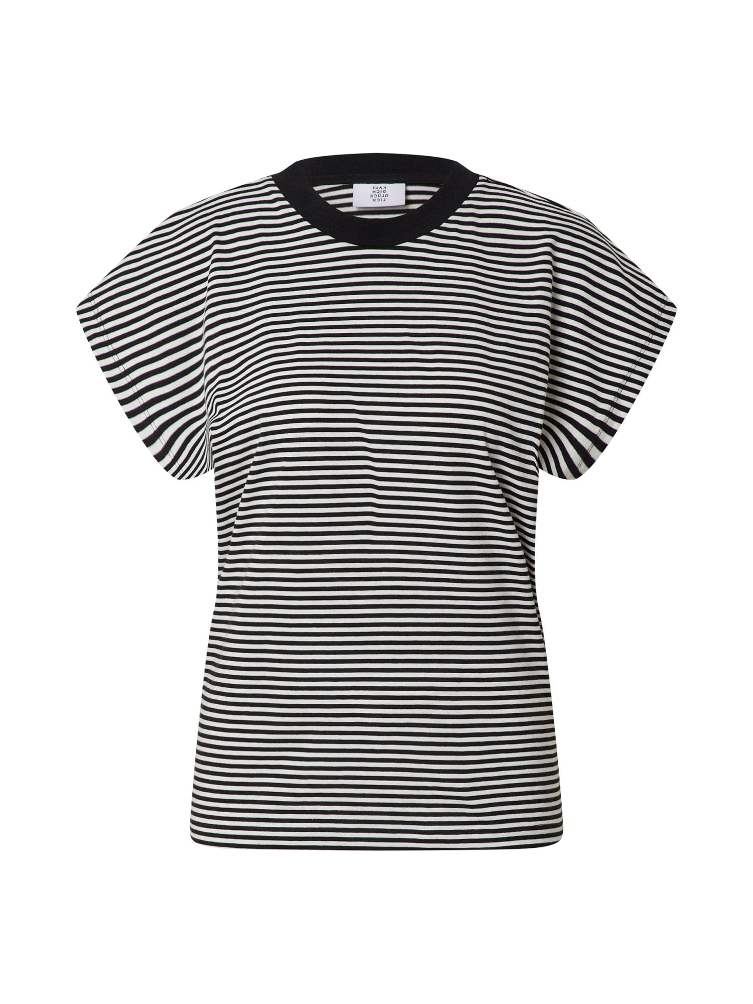 Kauf Dich Glücklich Marškinėliai juoda / balta